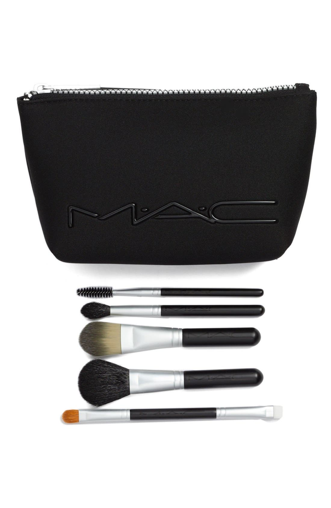 MAC COSMETICS, MAC 'Look in a Box - Basic' Brush Kit, Main thumbnail 1, color, 000