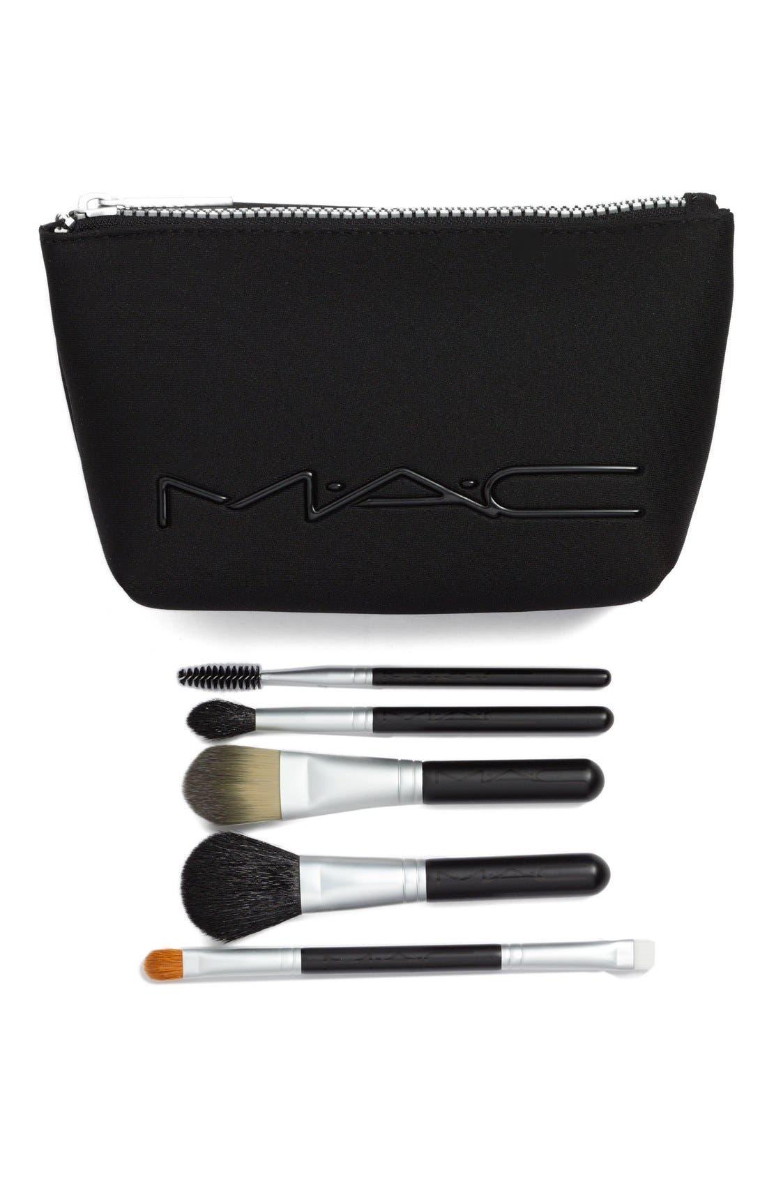 MAC COSMETICS MAC 'Look in a Box - Basic' Brush Kit, Main, color, 000