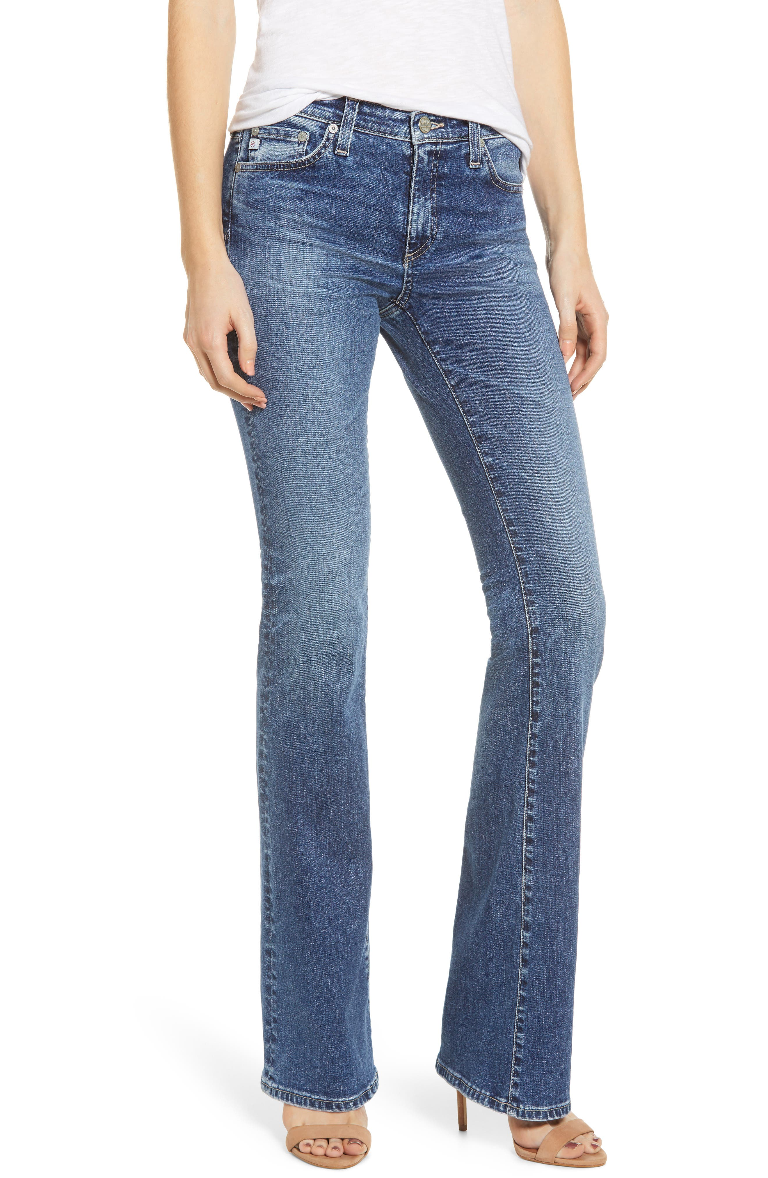 AG, Angel Flare Jeans, Main thumbnail 1, color, 12 YEARS FLUID