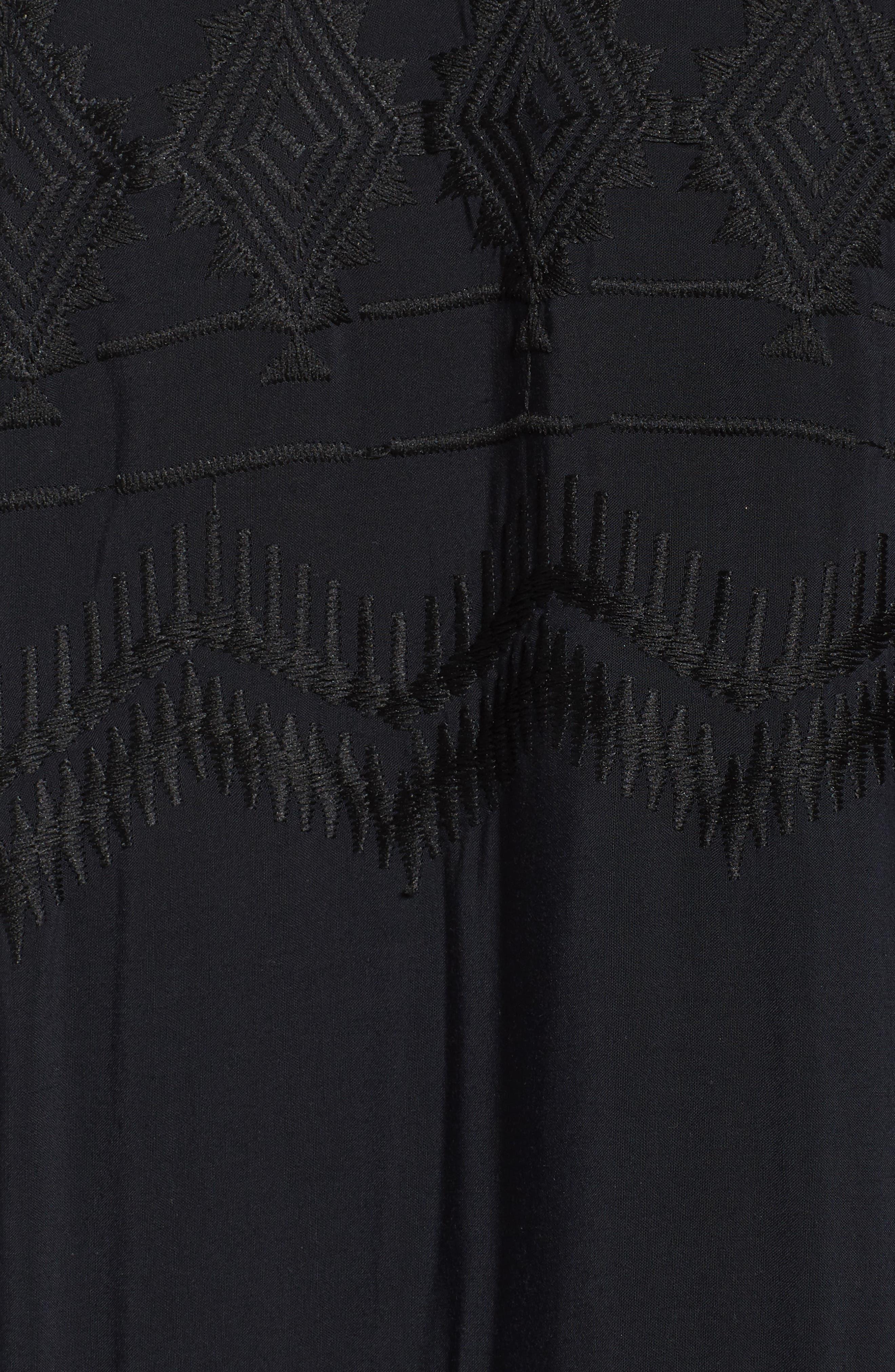 LA BLANCA, Cover-Up Tunic, Alternate thumbnail 6, color, BLACK