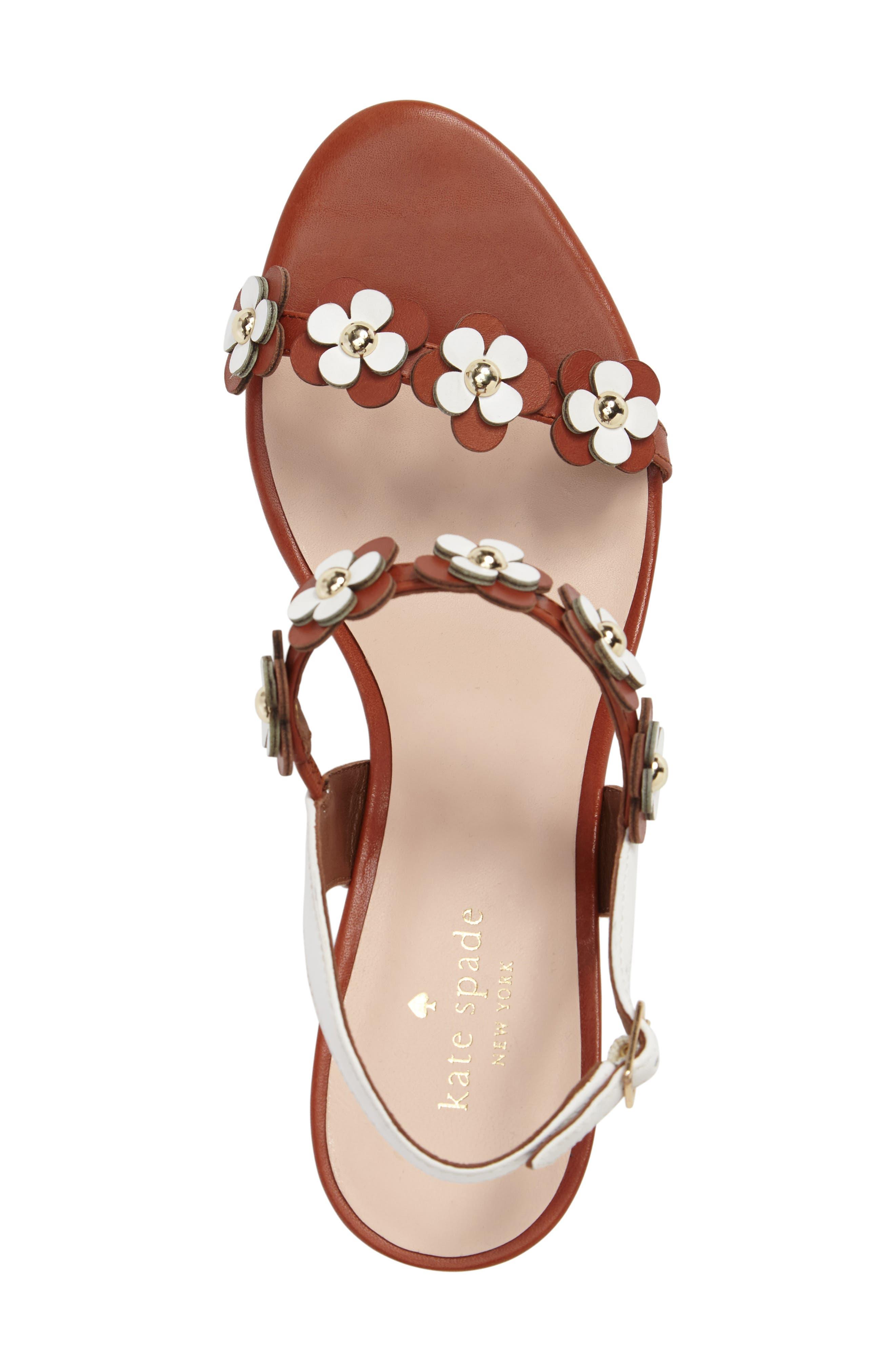 KATE SPADE NEW YORK, tisdale platform wedge sandal, Alternate thumbnail 5, color, 200