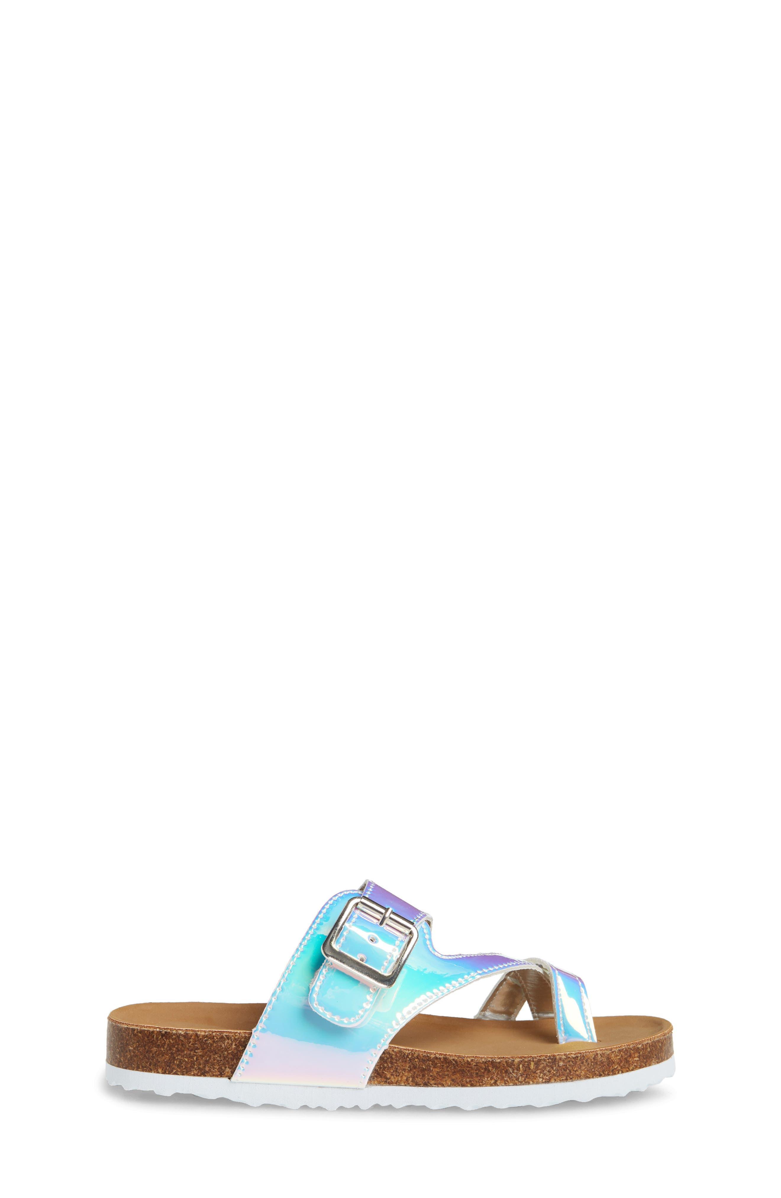 STEVE MADDEN, JWaive Sandal, Alternate thumbnail 3, color, IRIDESCENT