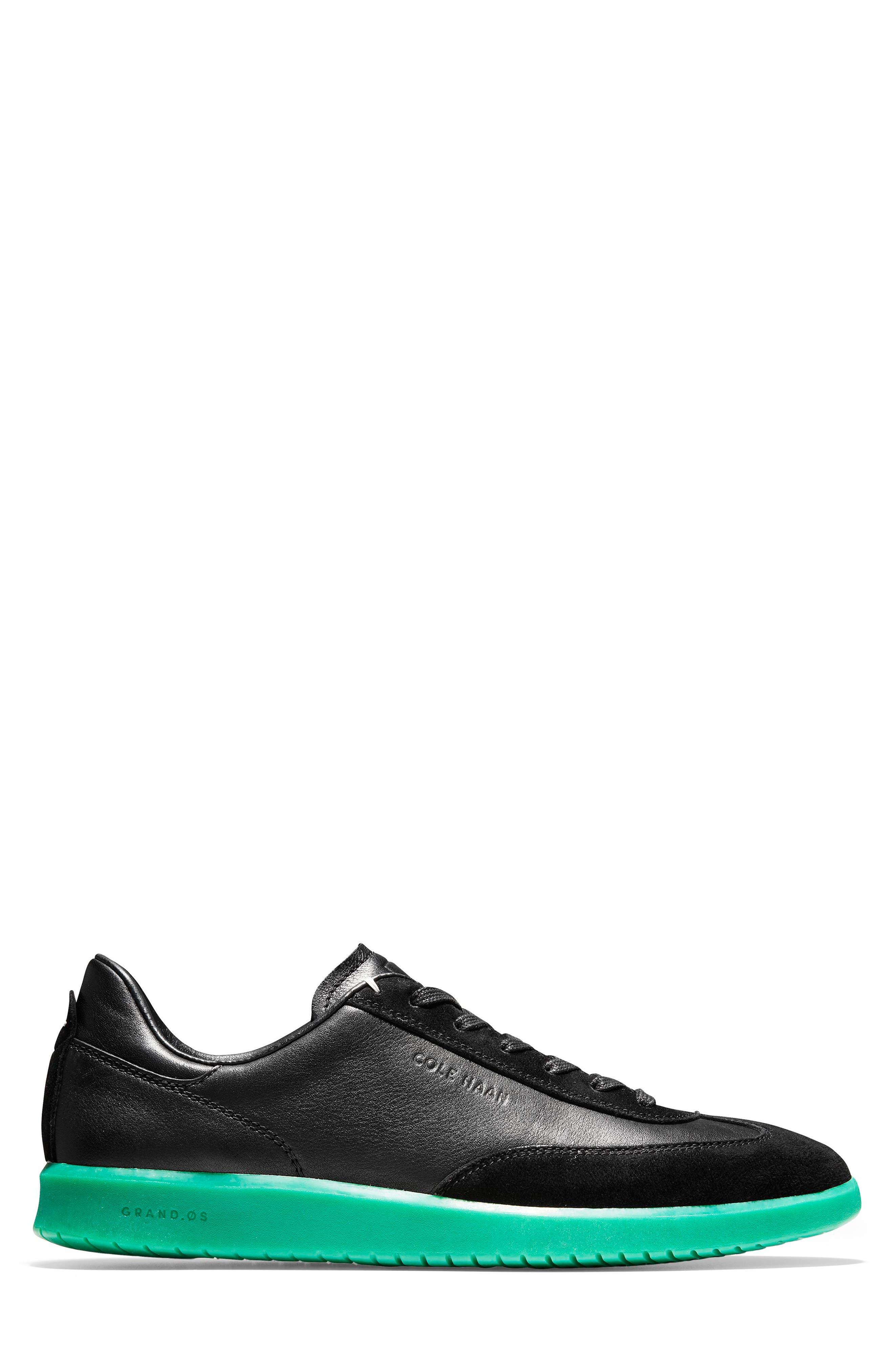 COLE HAAN, GrandPro Turf Sneaker, Alternate thumbnail 2, color, BLACK/ GREEN TRANSLUCENT