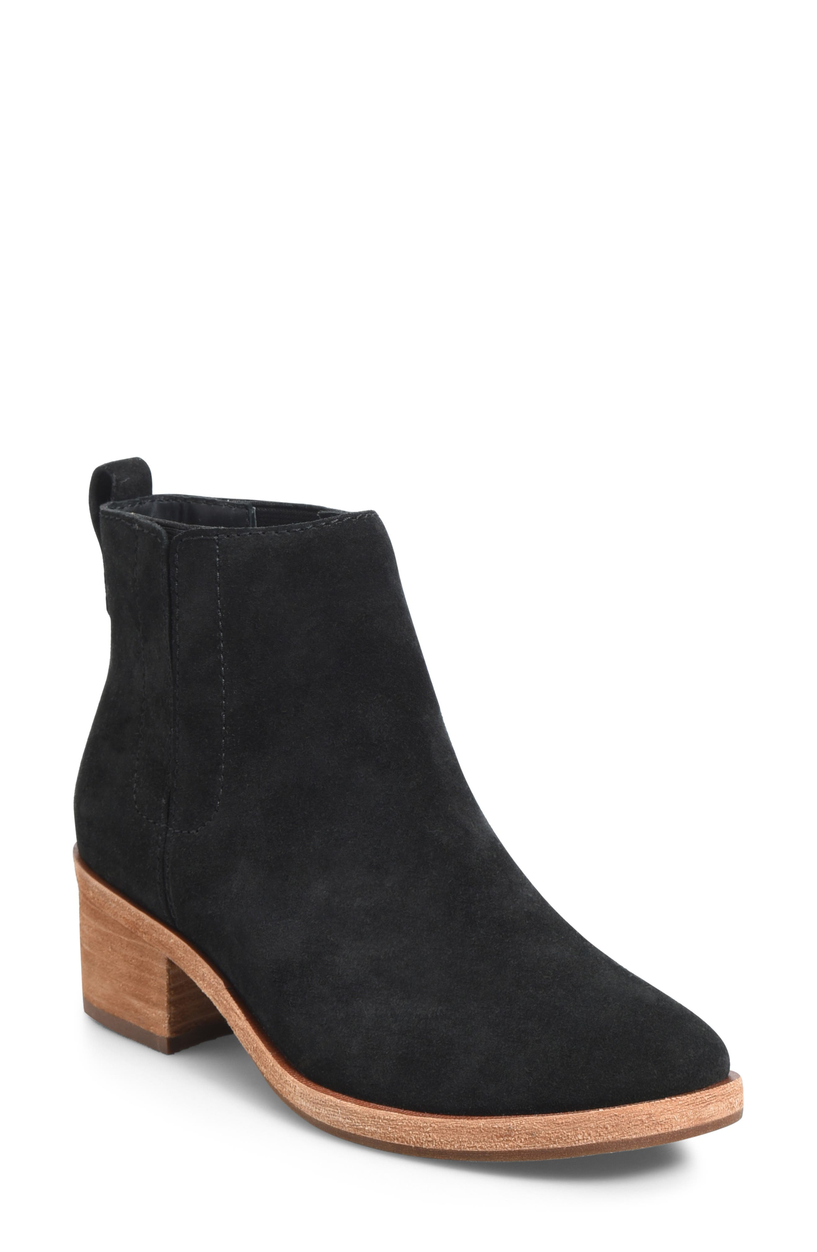 KORK-EASE<SUP>®</SUP>, Mindo Chelsea Bootie, Main thumbnail 1, color, BLACK SUEDE