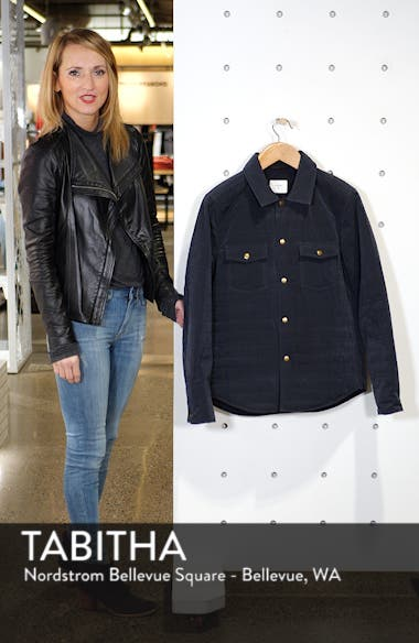 Michael Slim Fit Quilted Shirt Jacket, sales video thumbnail