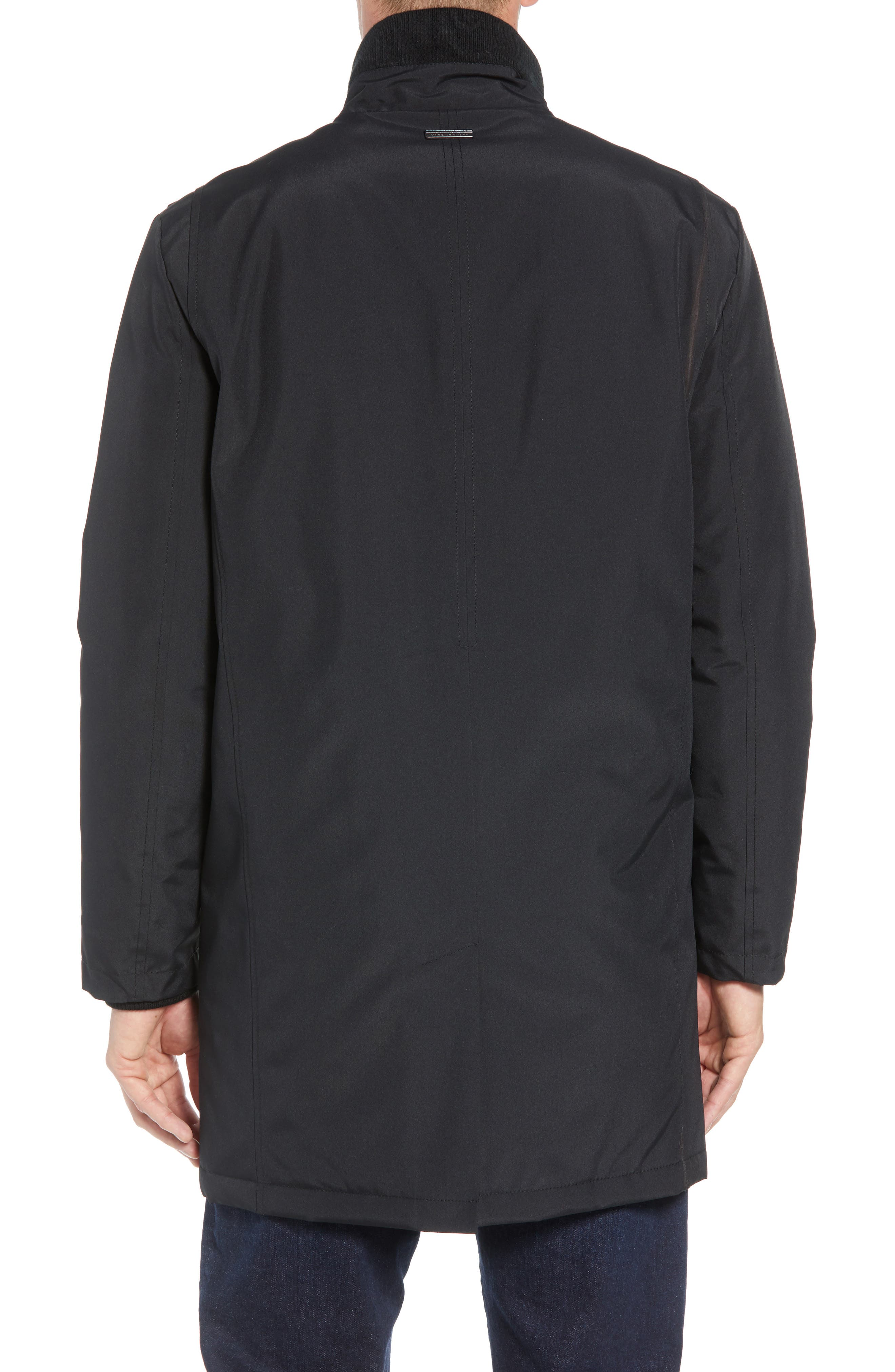 MARC NEW YORK, Cullen Oxford Car Coat, Alternate thumbnail 2, color, BLACK