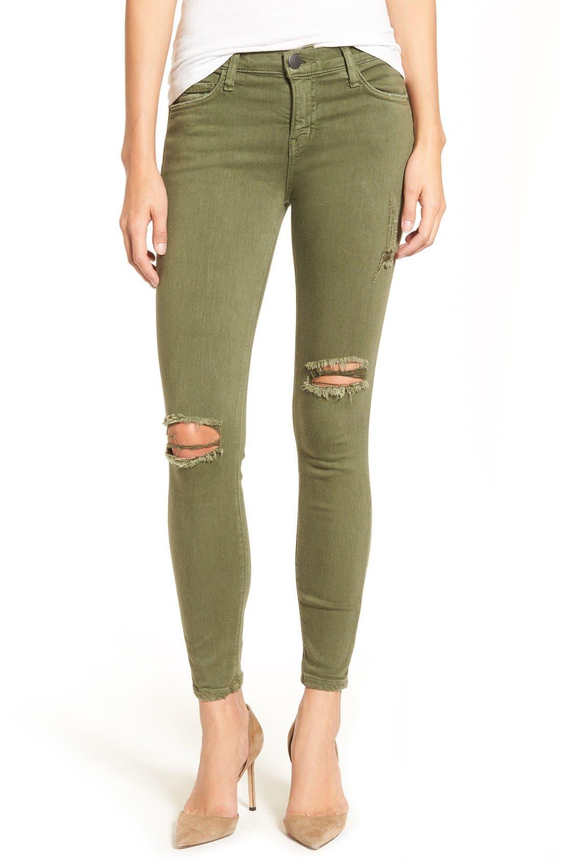 CURRENT/ELLIOTT, 'The Stiletto' Crop Skinny Jeans, Alternate thumbnail 3, color, 309