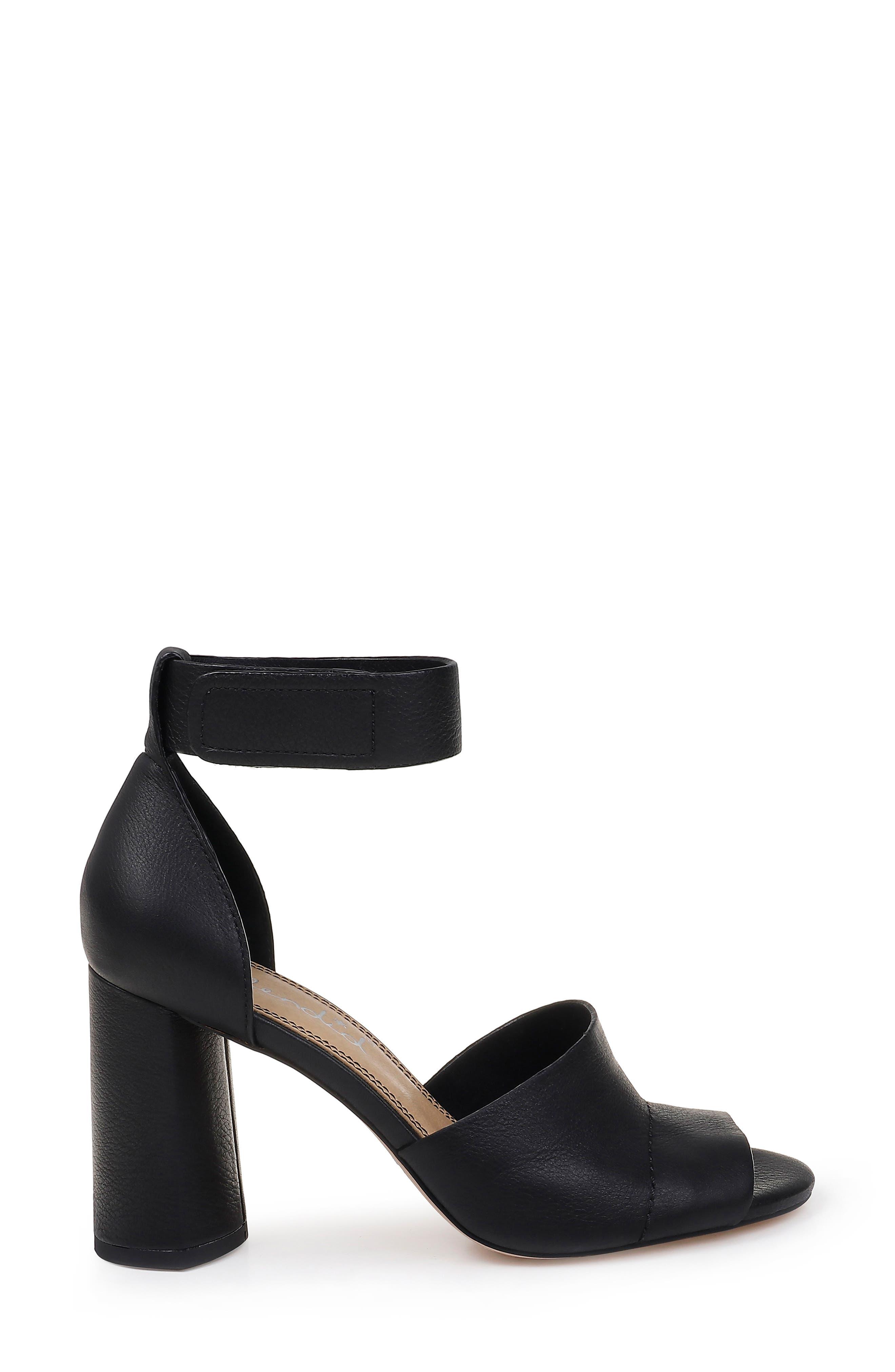 SPLENDID, Thandie Ankle Strap Sandal, Alternate thumbnail 3, color, BLACK NUBUCK LEATHER