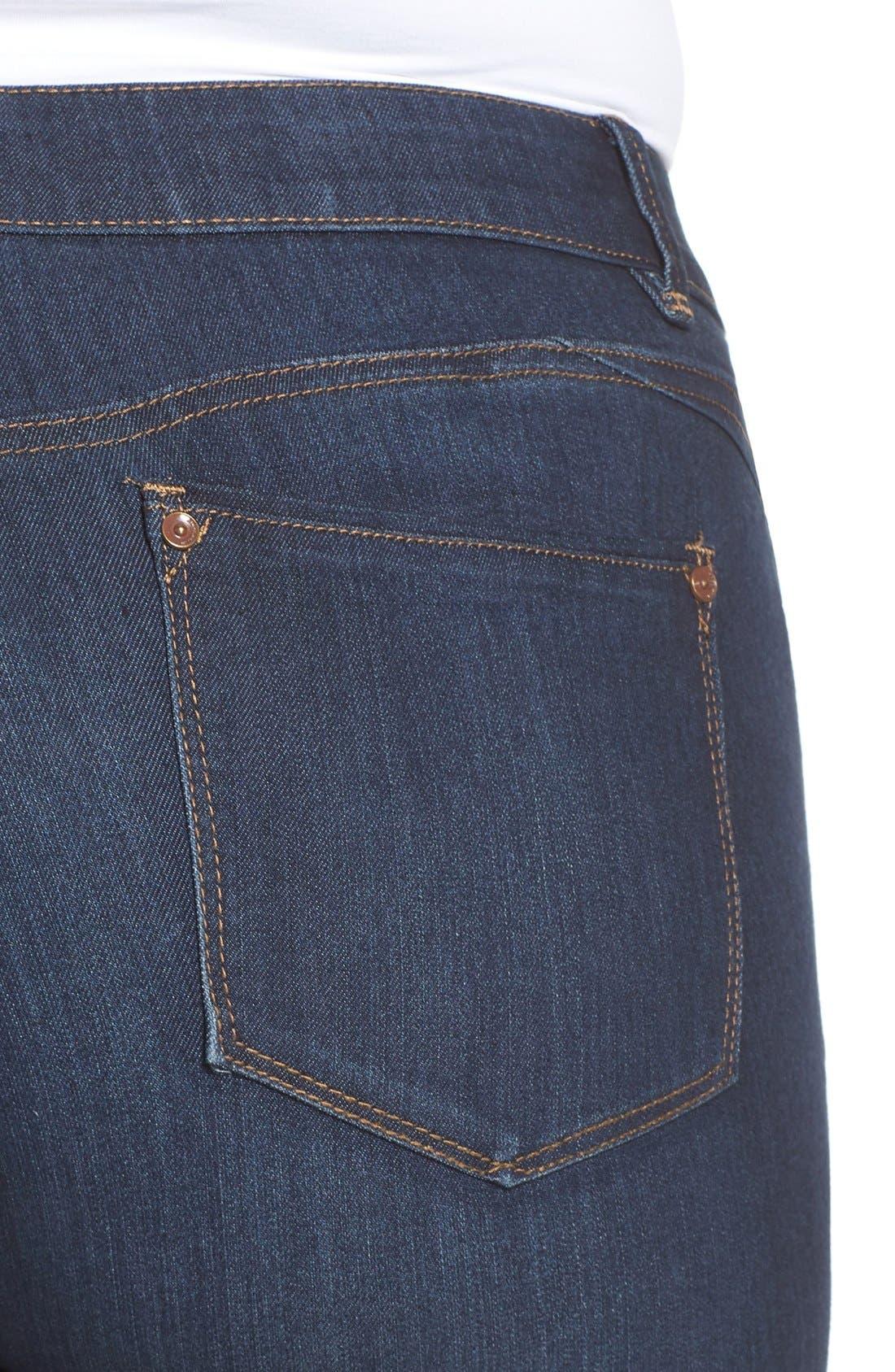WIT & WISDOM, Ab-solution Stretch Skinny Jeans, Alternate thumbnail 9, color, INDIGO