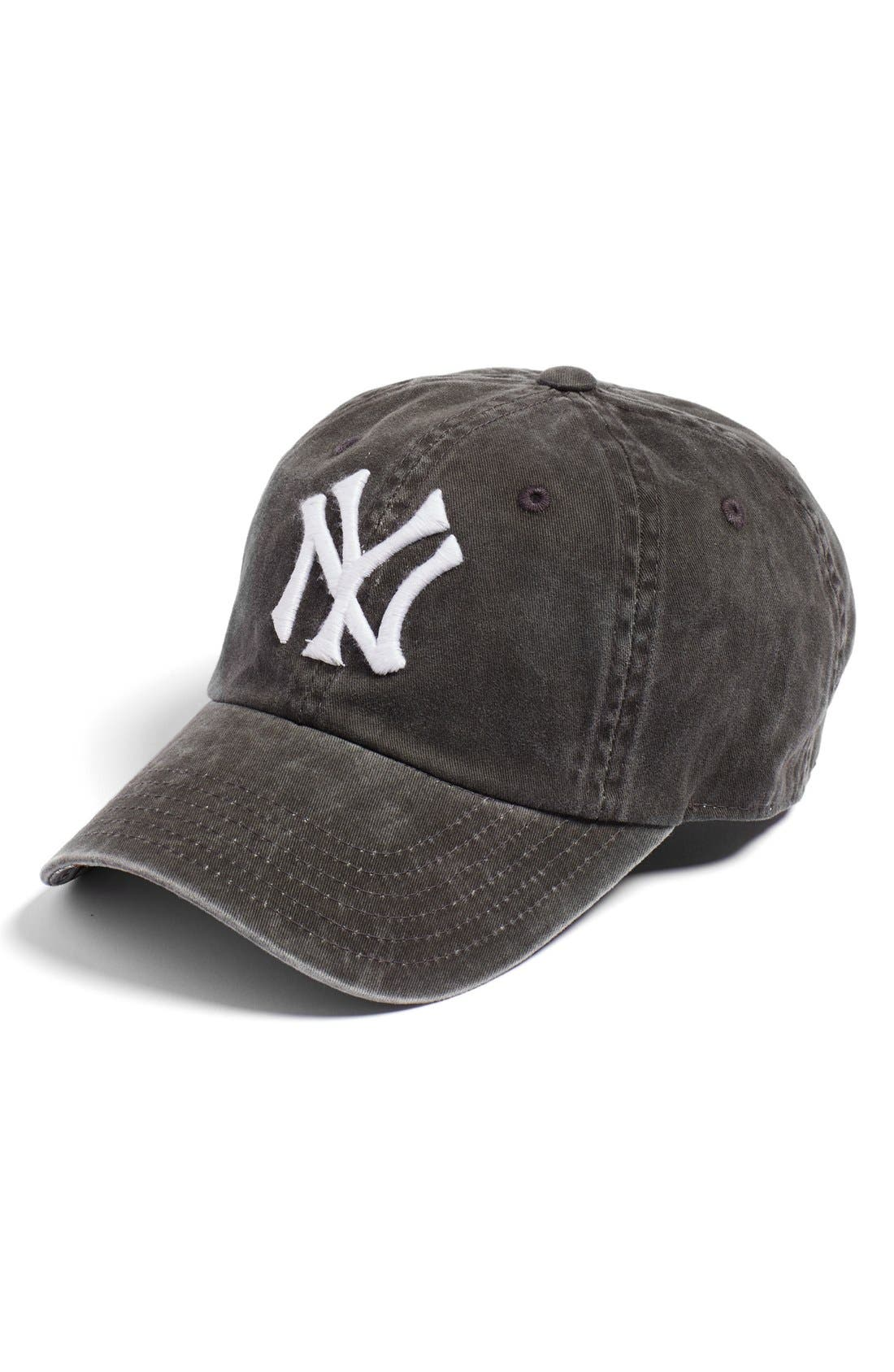AMERICAN NEEDLE New Raglan New York Yankees Baseball Cap, Main, color, 001