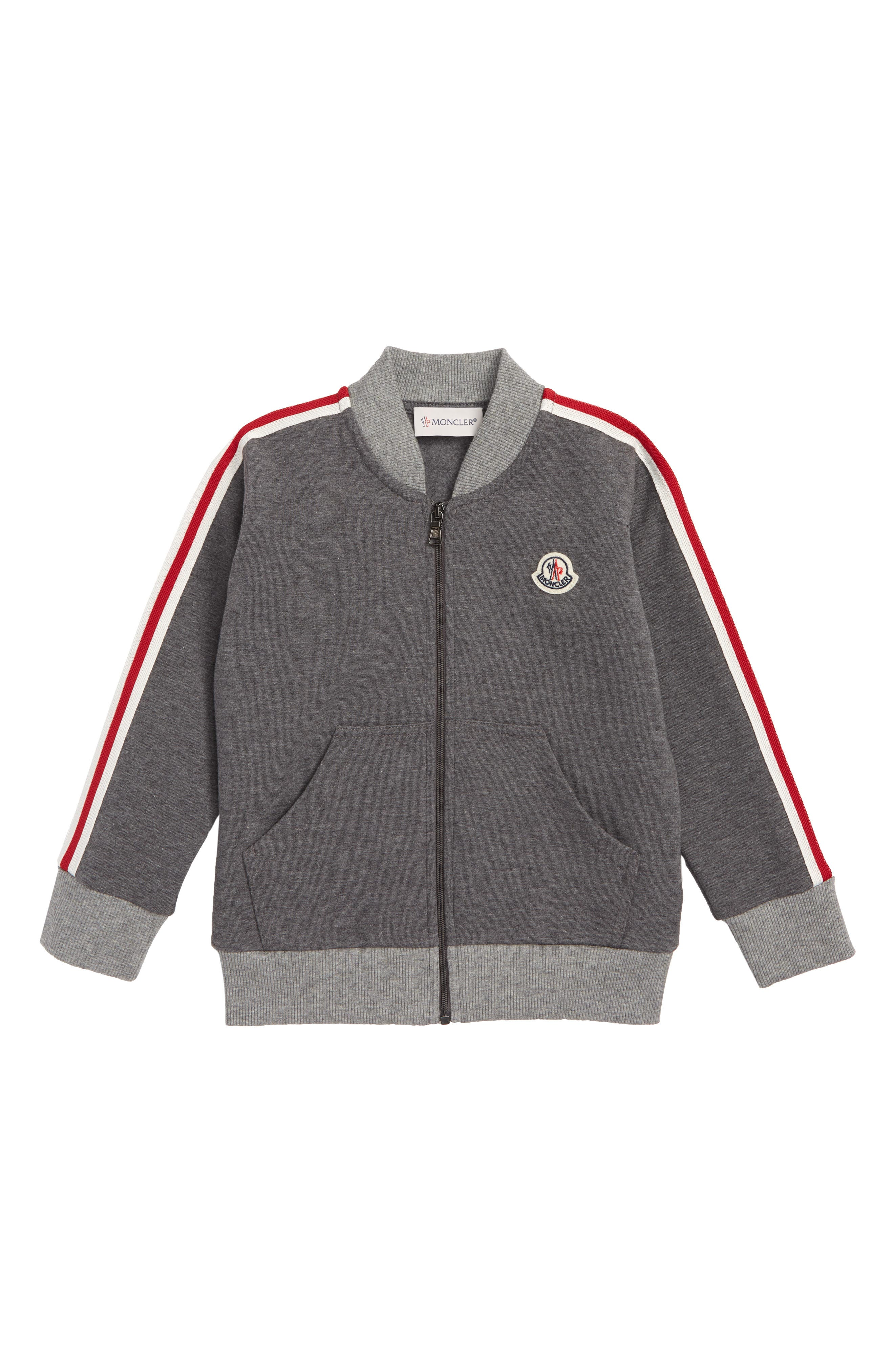 Toddler Boys Moncler Maglia Zip Sweater Size 912M  Grey