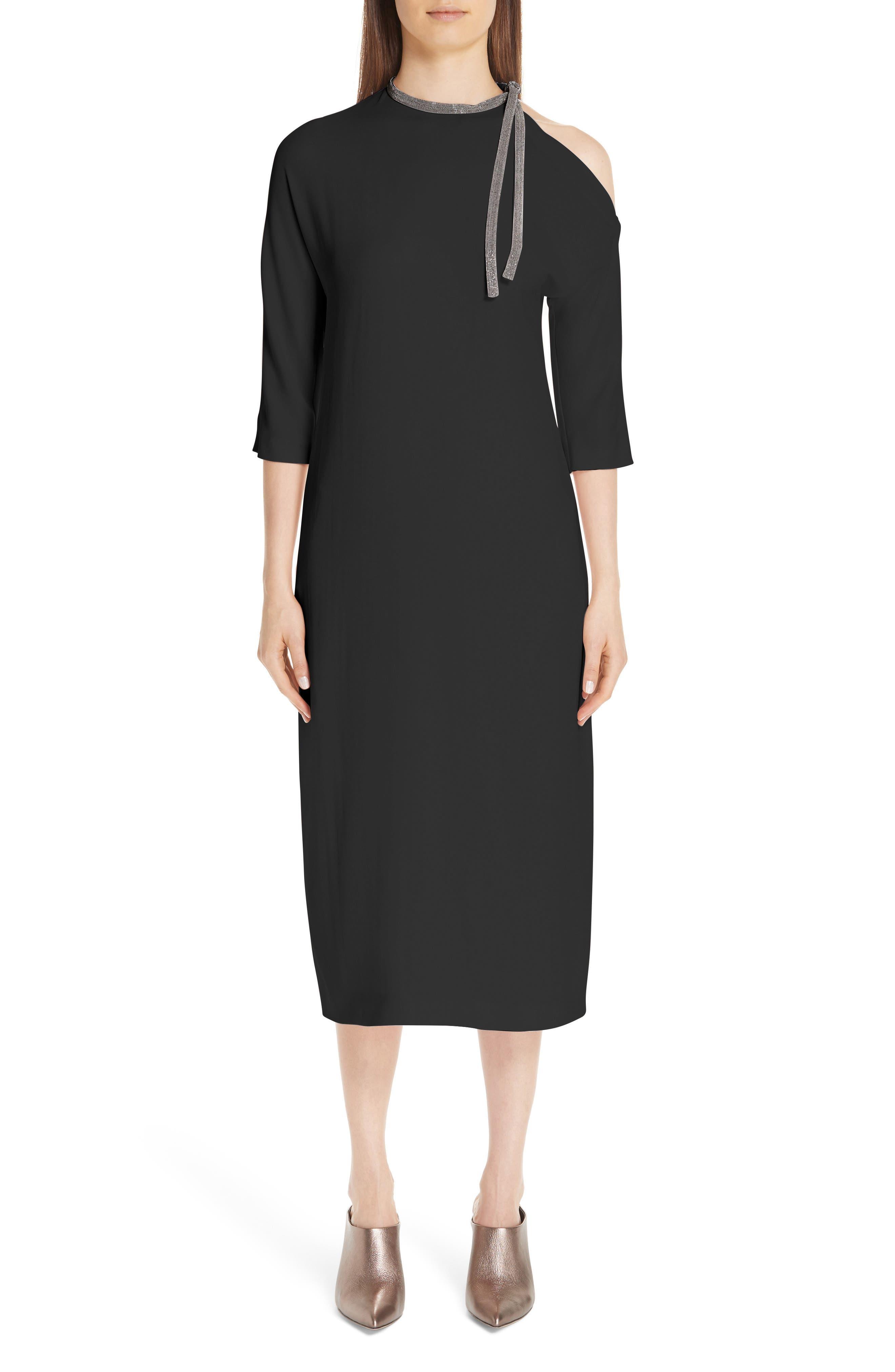 Fabiana Filippi Precious Cutout Dress, 8 IT - Black