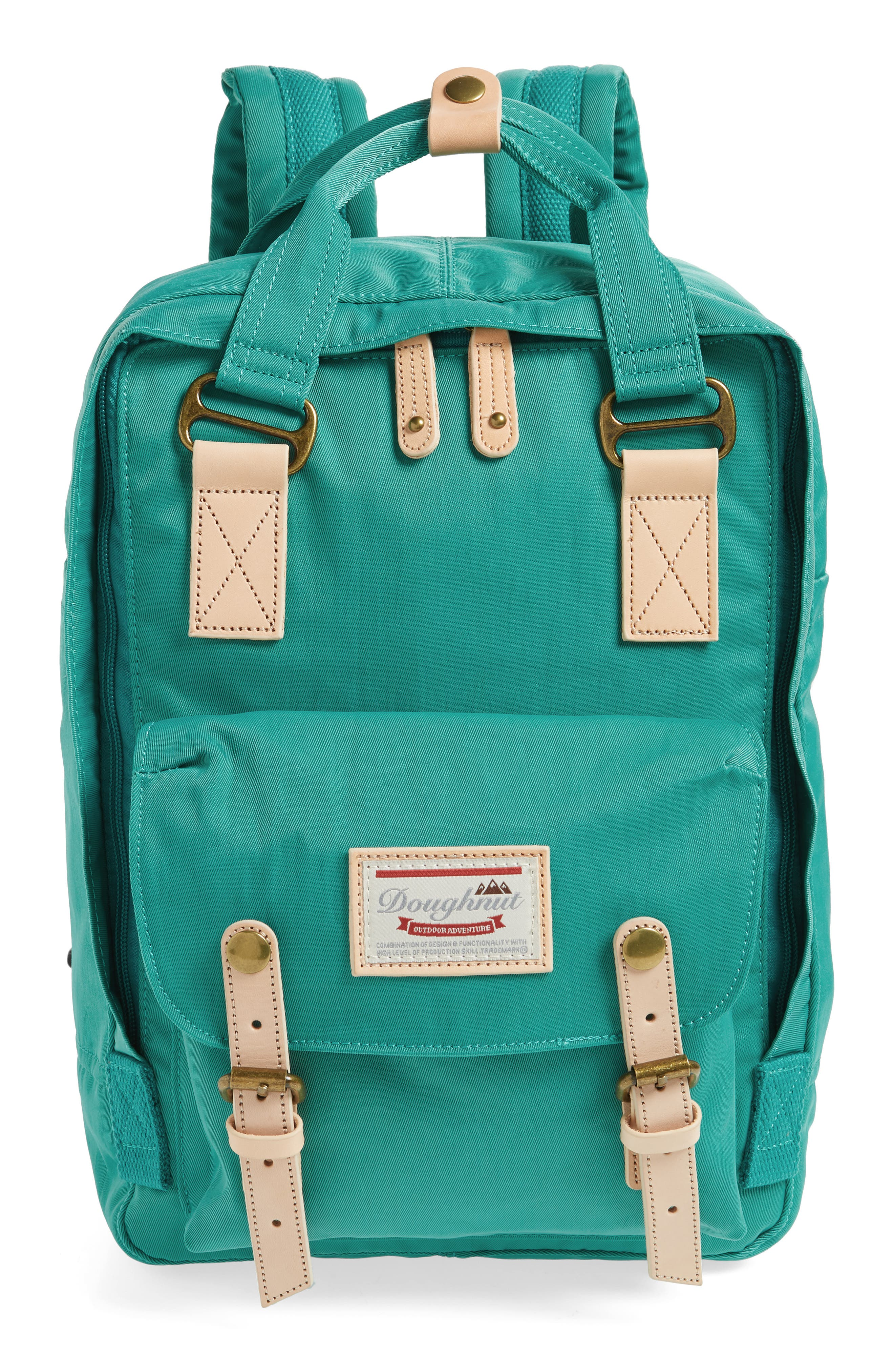 DOUGHNUT, Macaroon Water Resistant Backpack, Main thumbnail 1, color, MINT