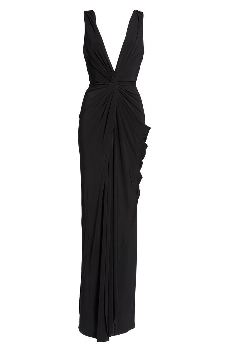 f64e9335945 Shop Katie May Leo Twist Front Evening Dress In Black