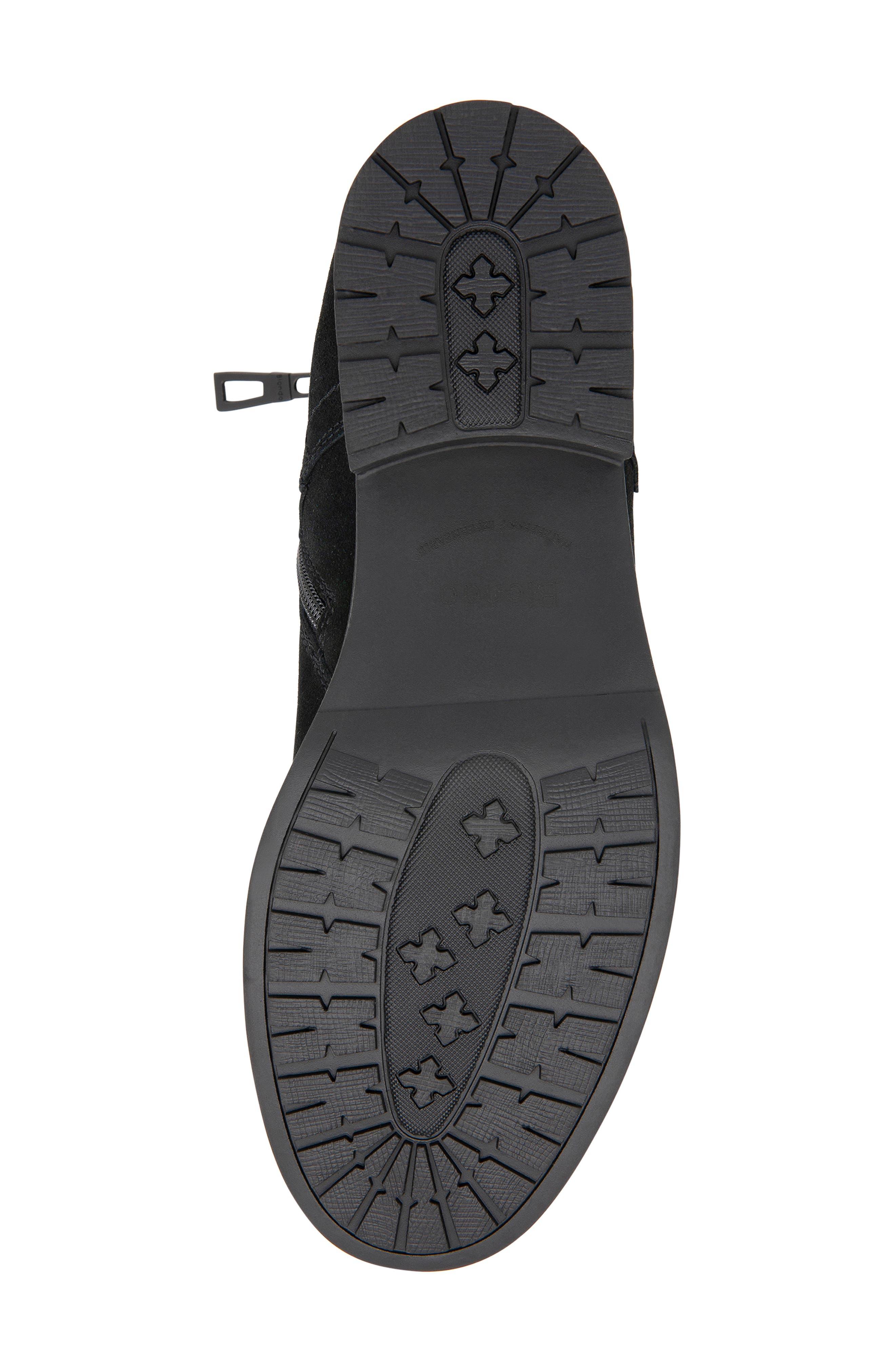 BLONDO, Peter Waterproof Plain Toe Boot, Alternate thumbnail 5, color, BLACK SUEDE