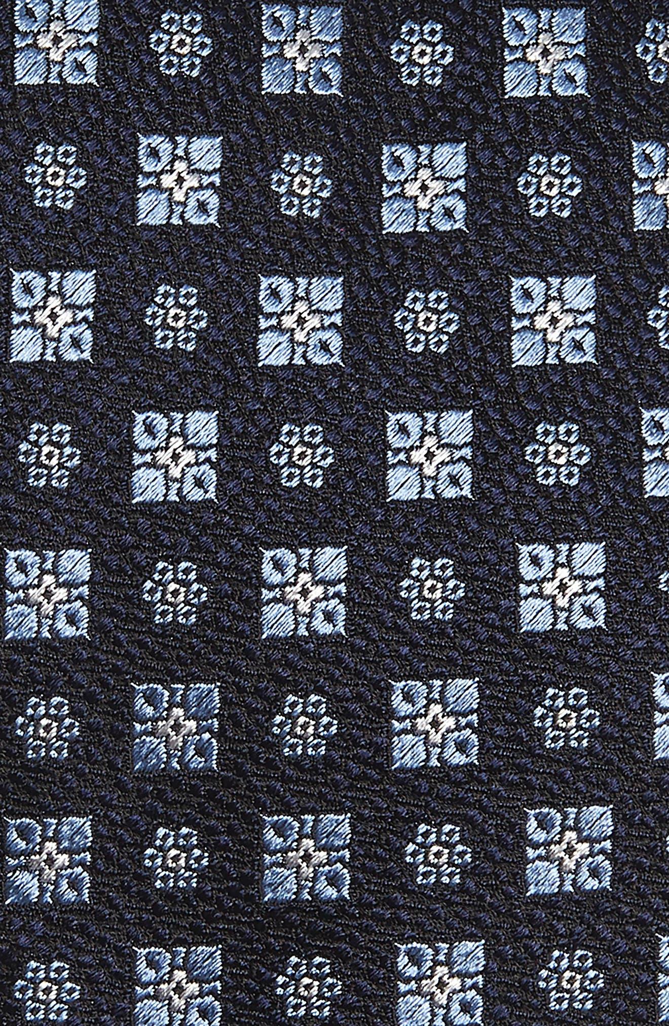ERMENEGILDO ZEGNA, Medallion Silk X-Long Tie, Alternate thumbnail 2, color, BLUE