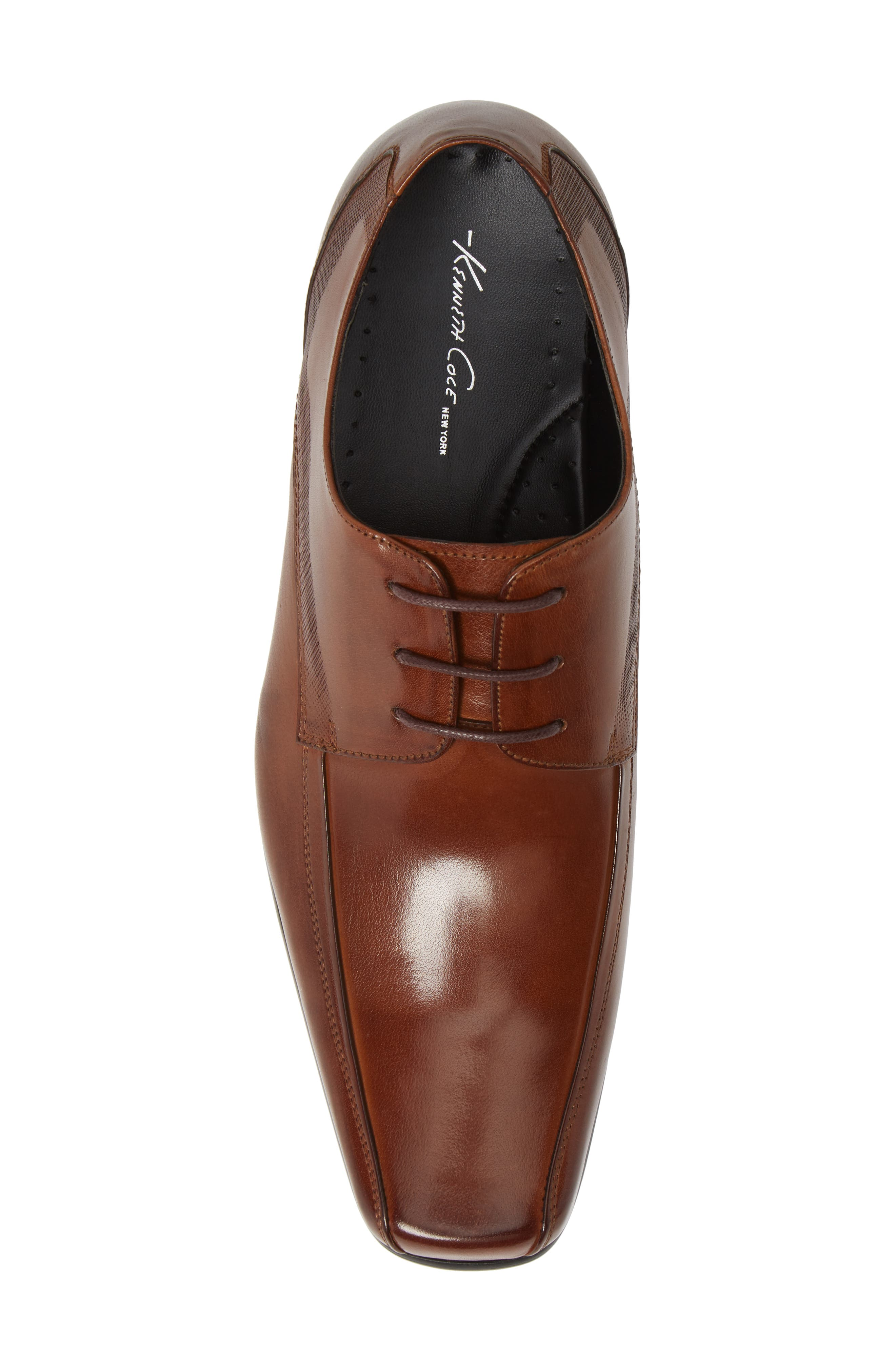 KENNETH COLE NEW YORK, Magic Place Bike Toe Derby, Alternate thumbnail 5, color, COGNAC LEATHER