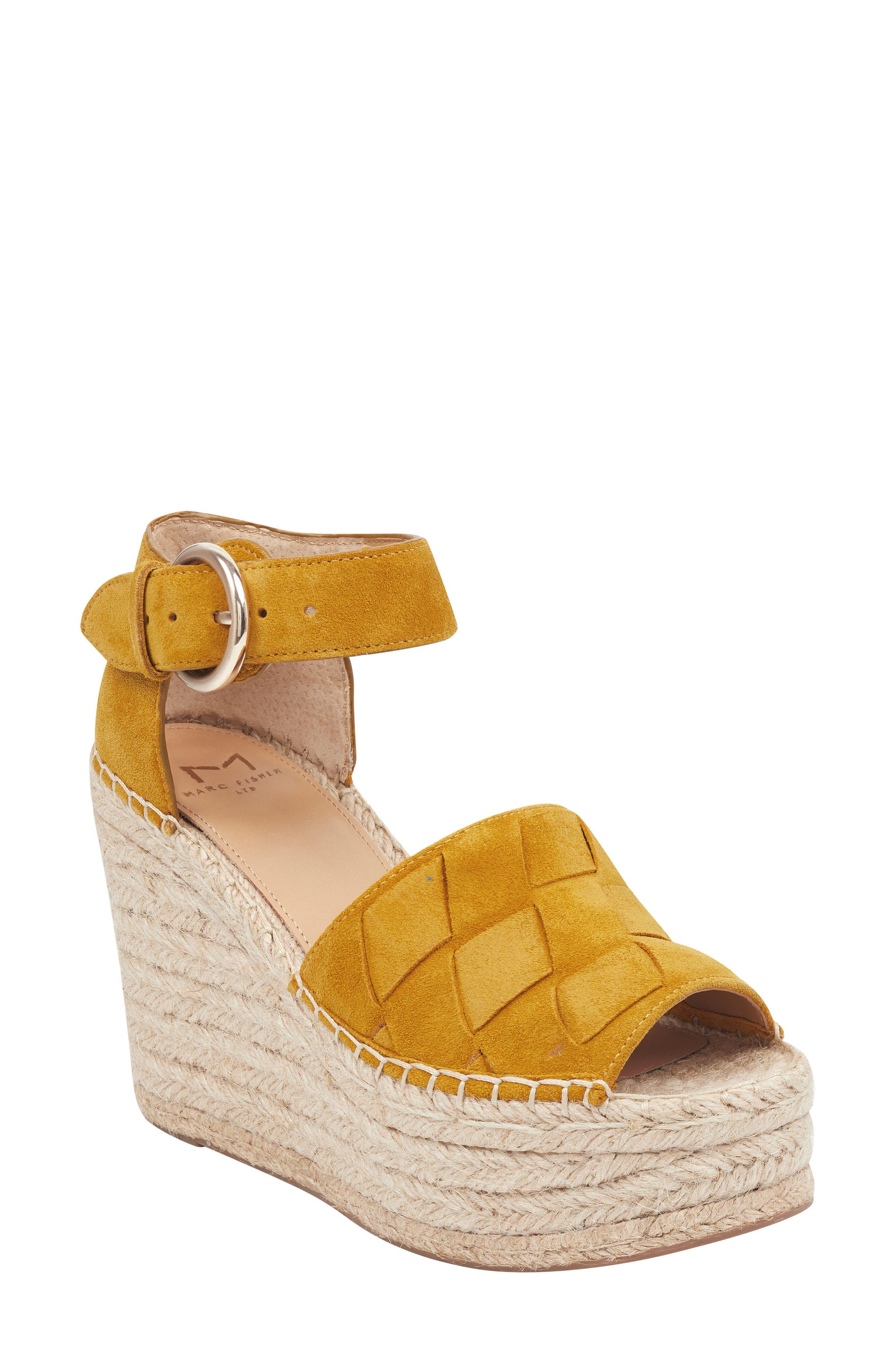 f741c8fb7a3 Marc Fisher Ltd Adalla Platform Wedge Sandal