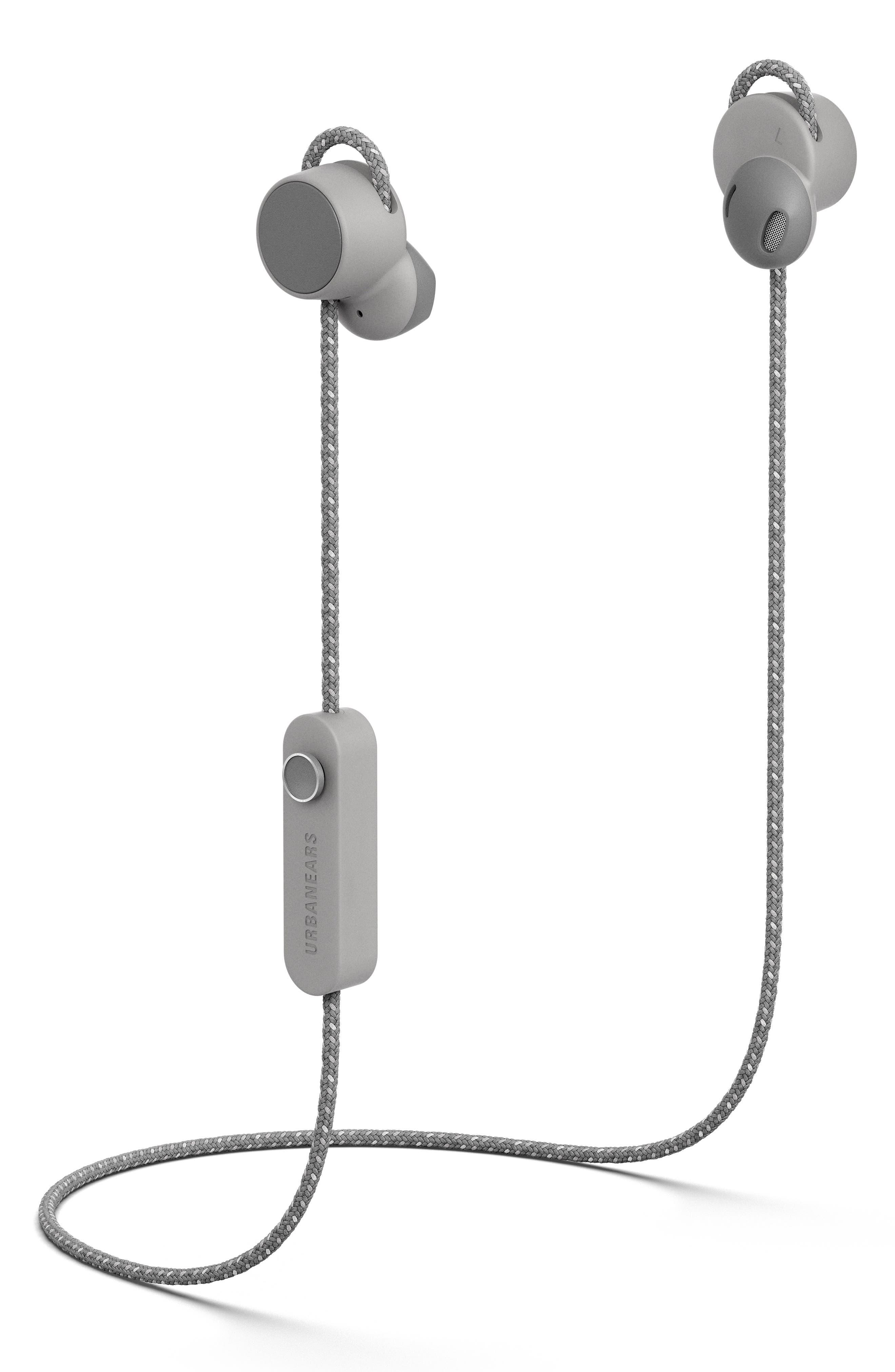 URBANEARS, Jakan Wireless Bluetooth In-Ear Headphones, Main thumbnail 1, color, ASH GREY