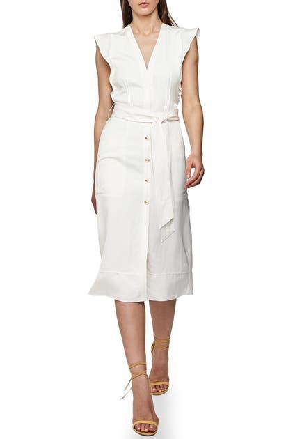 Reiss Dresses ENID FLUTTER SLEEVE SHEATH DRESS