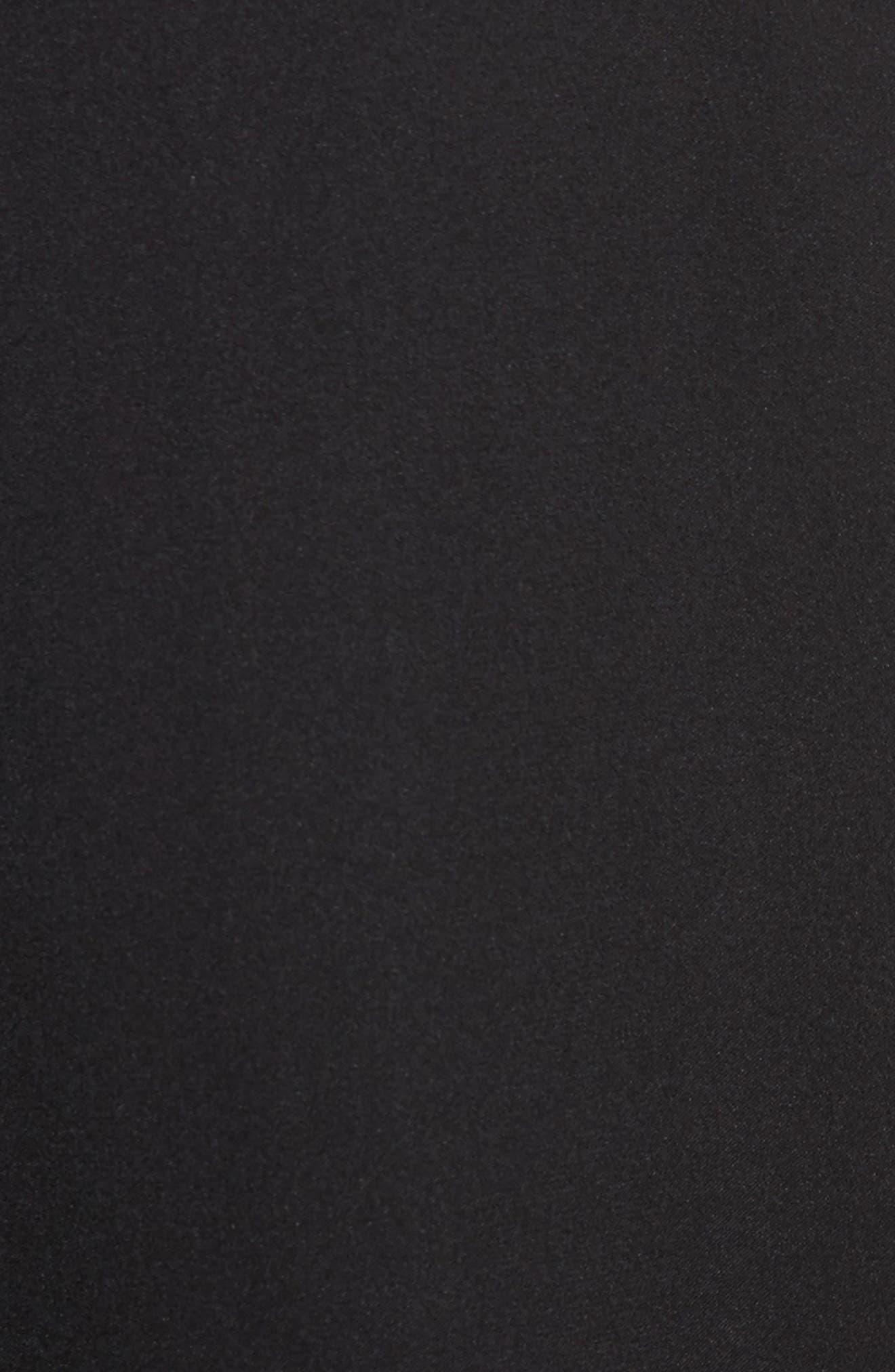 VINCE, Slim Silk Blouse, Alternate thumbnail 5, color, BLACK