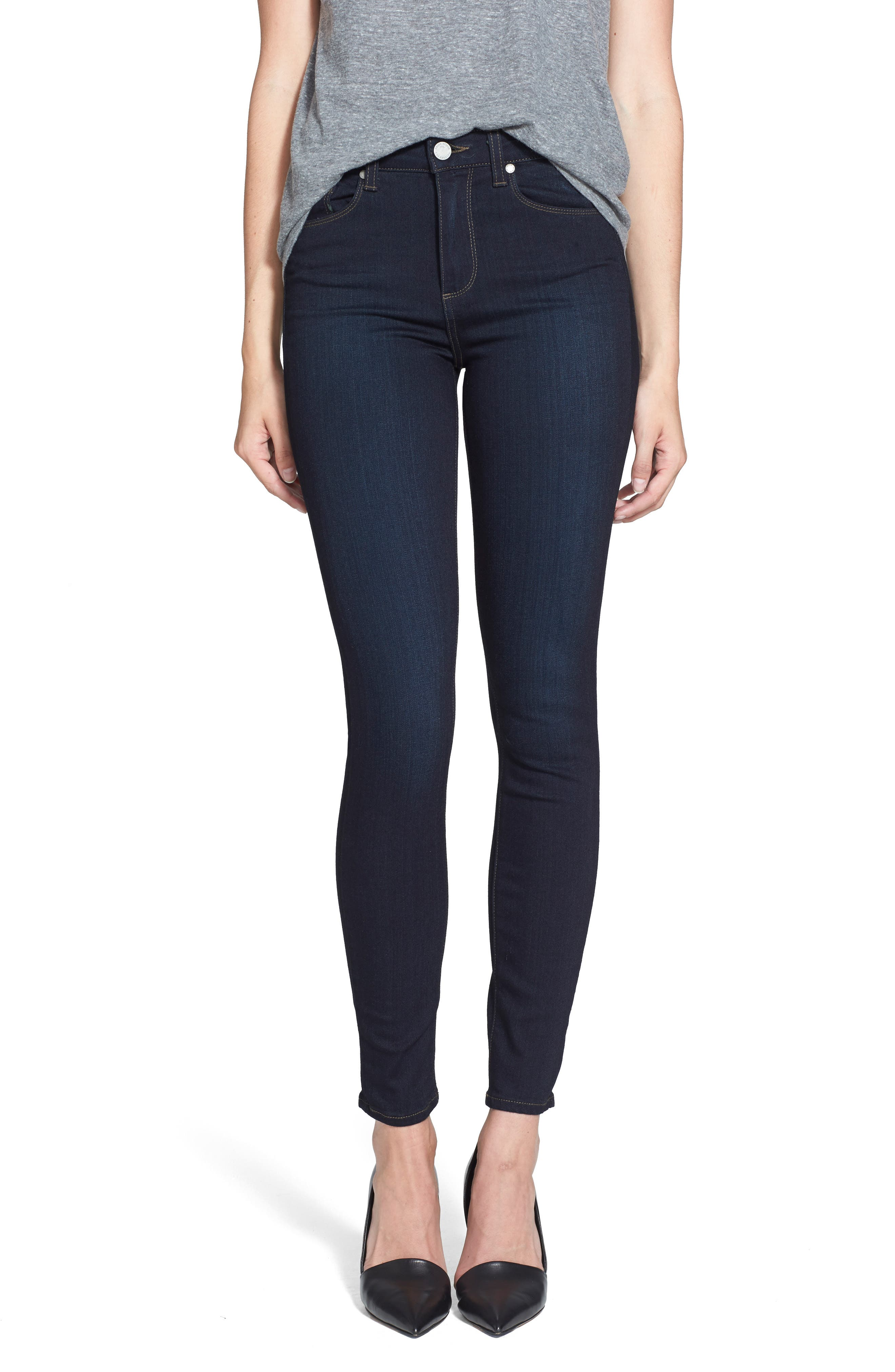 PAIGE, Transcend - Hoxton High Waist Ultra Skinny Jeans, Alternate thumbnail 2, color, MONA