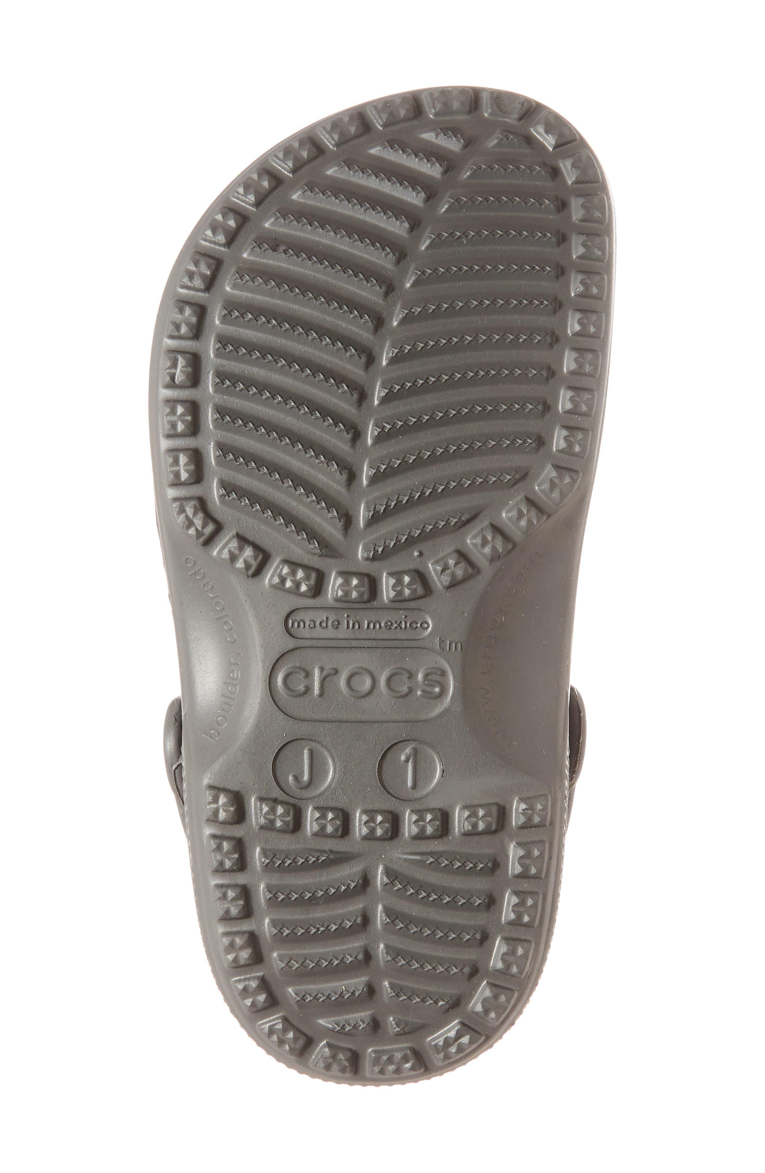 CROCS<SUP>™</SUP>, Classic Clog Sandal, Alternate thumbnail 6, color, SLATE GREY