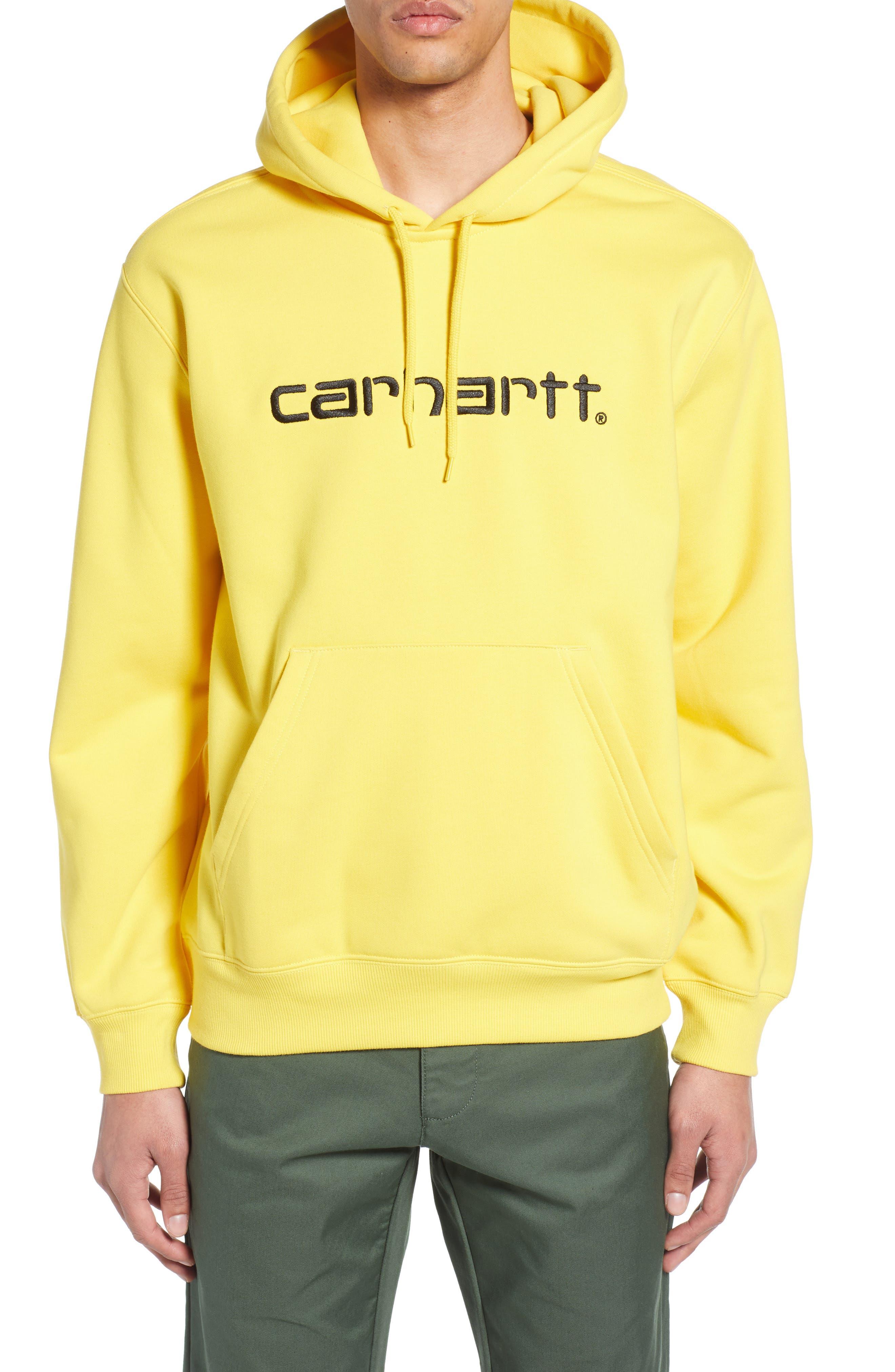 CARHARTT WORK IN PROGRESS Hooded Sweatshirt, Main, color, PRIMULA / BLACK