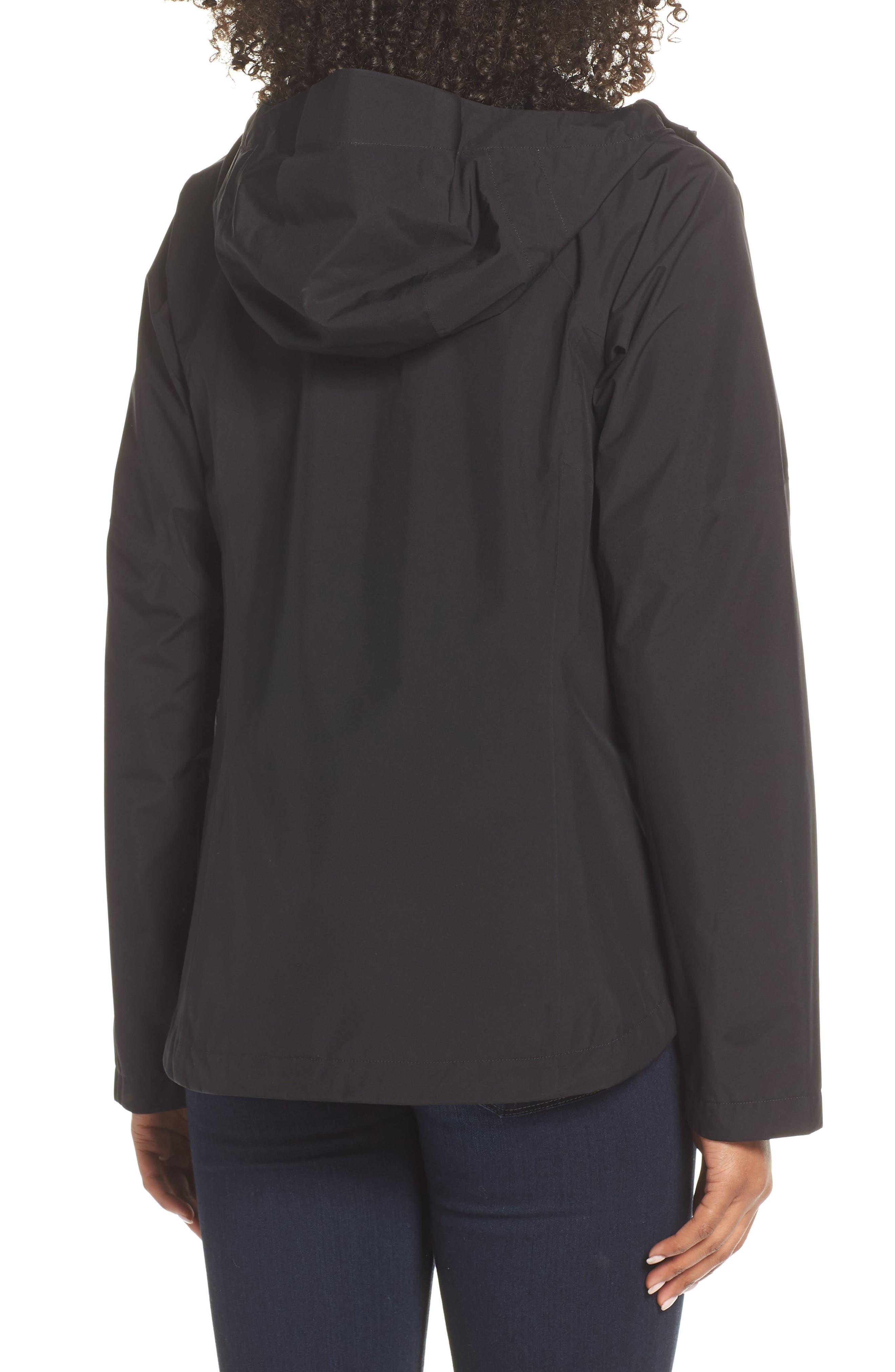THE NORTH FACE, Dryzzle Hooded Rain Jacket, Alternate thumbnail 2, color, TNF BLACK