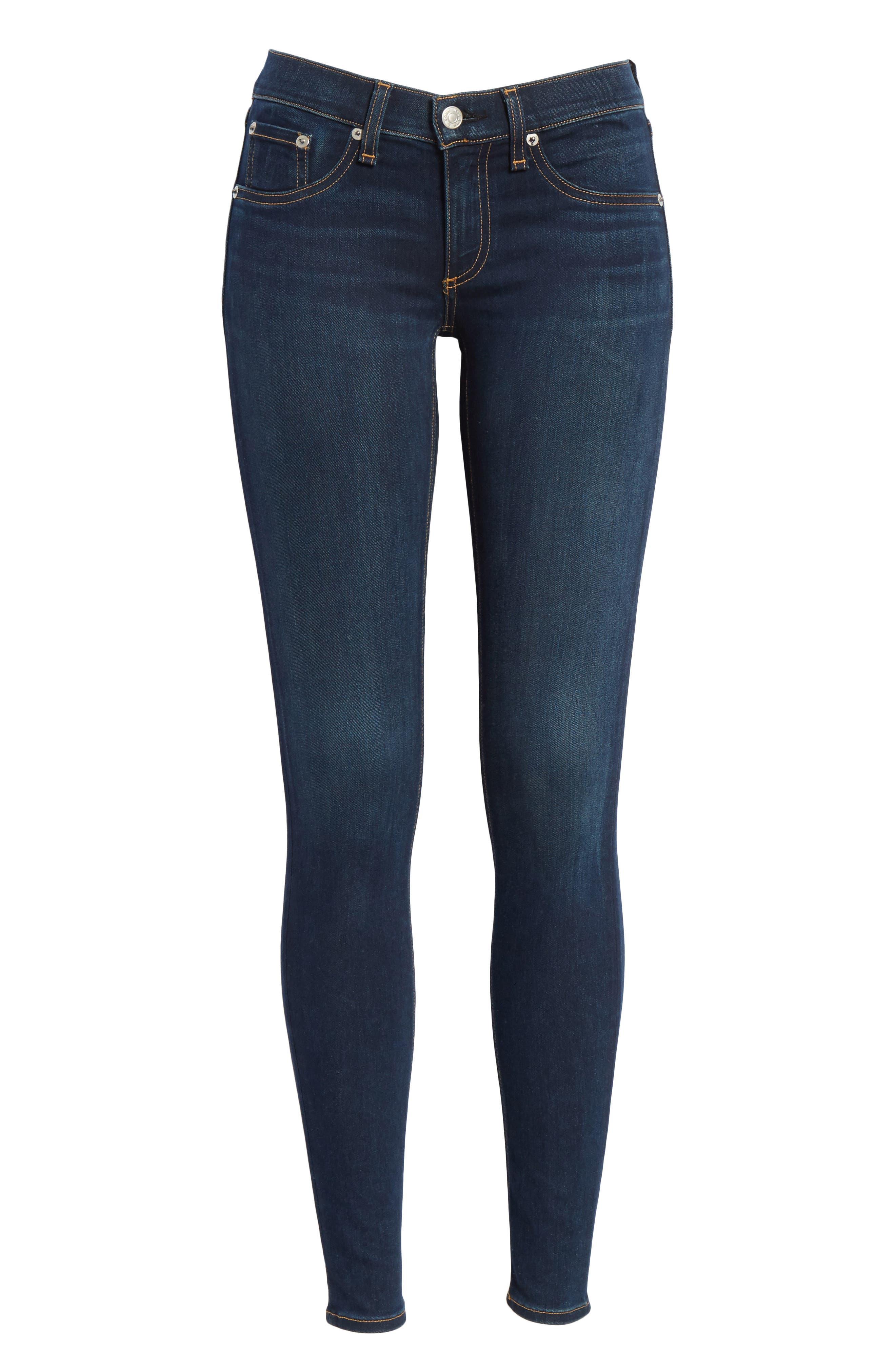 RAG & BONE, Skinny Stretch Jeans, Alternate thumbnail 8, color, BEDFORD