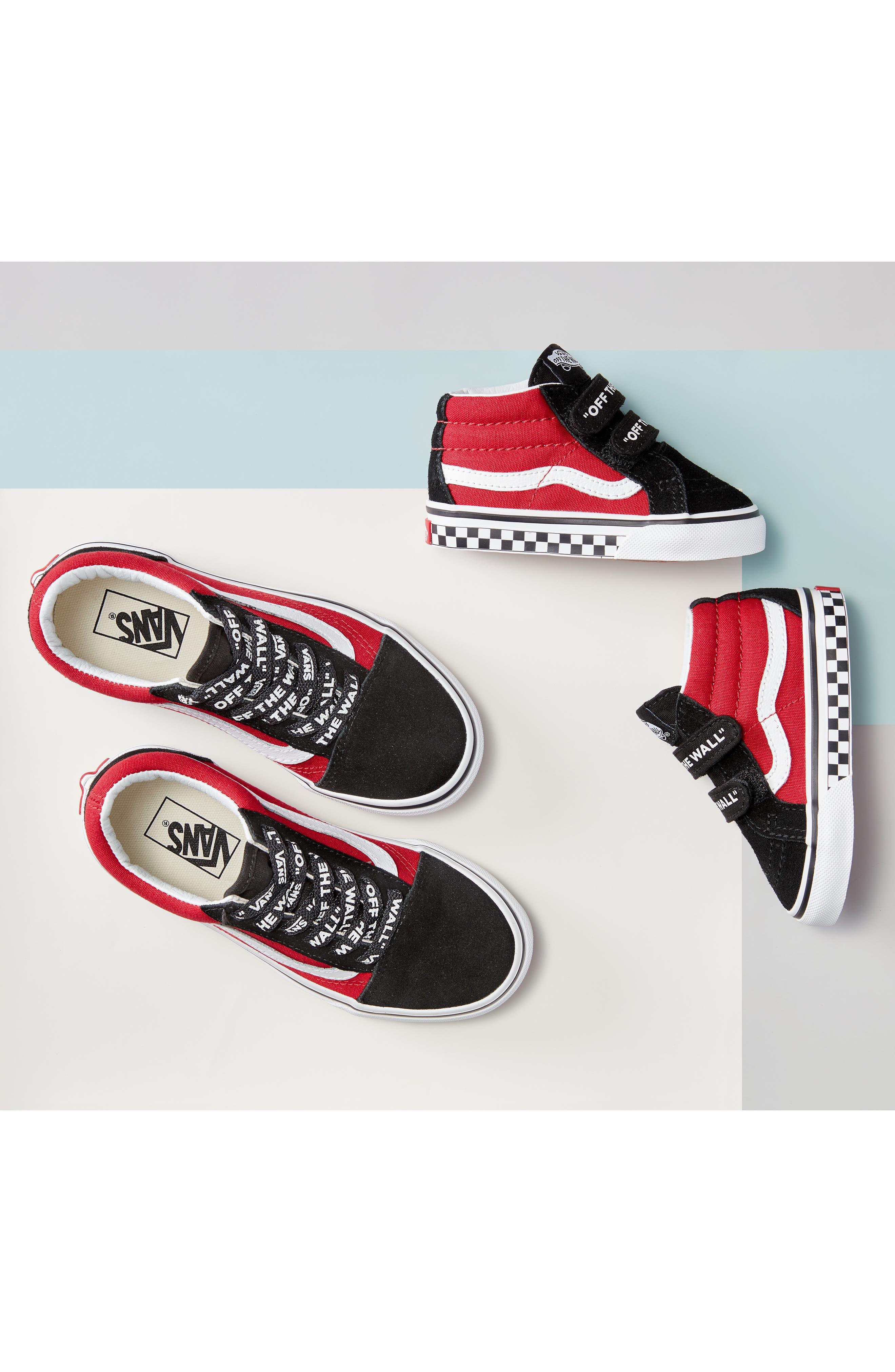 VANS, Old Skool Sneaker, Alternate thumbnail 7, color, PLAID CAMO GRAPE LEAF/ WHITE