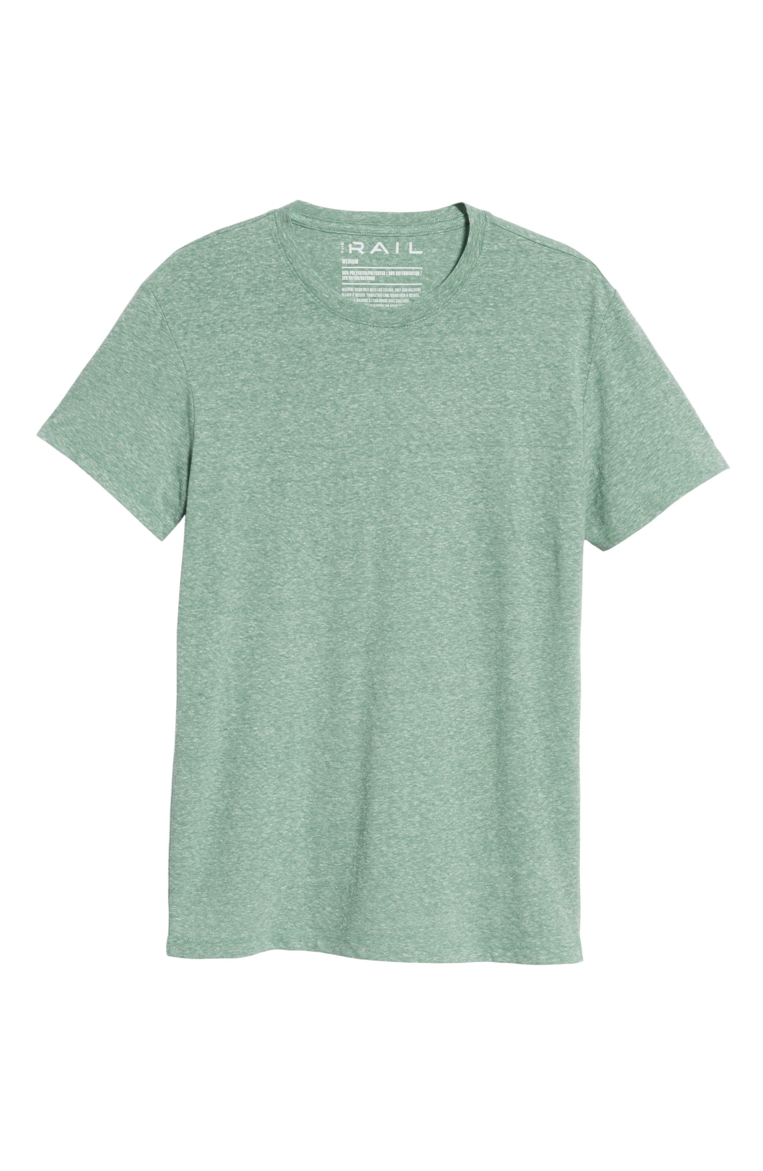 THE RAIL, Solid Crewneck T-Shirt, Alternate thumbnail 6, color, GREEN FROSTY