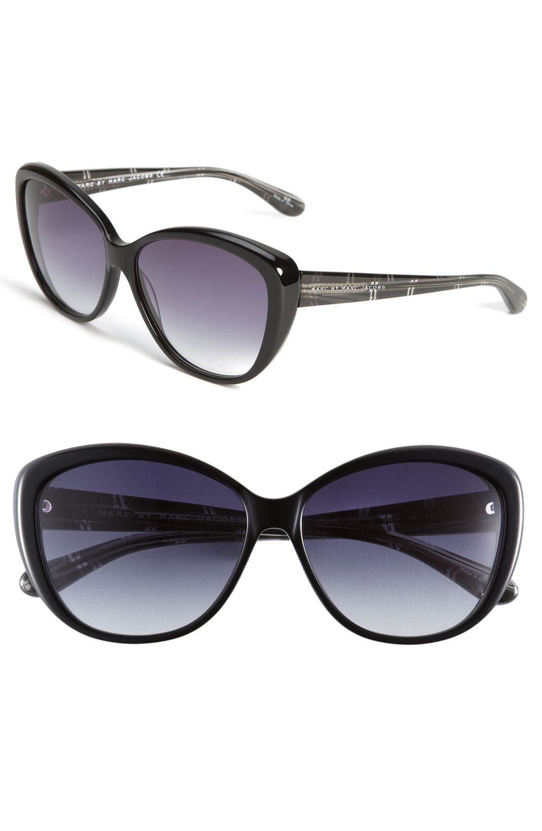 MARC BY MARC JACOBS, Cat's Eye Sunglasses, Main thumbnail 1, color, 001