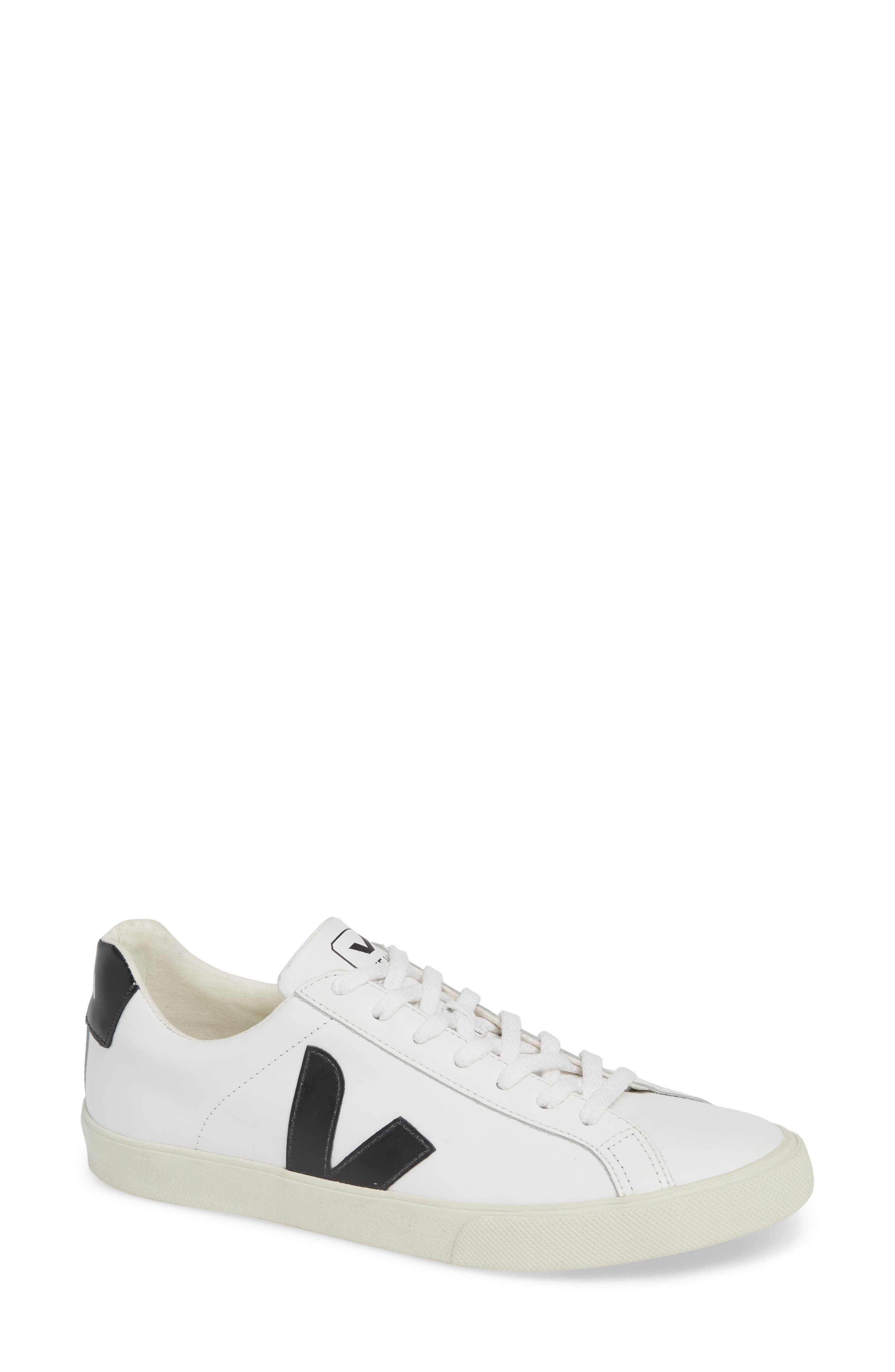 VEJA, Esplar Sneaker, Main thumbnail 1, color, EXTRA WHITE BLACK