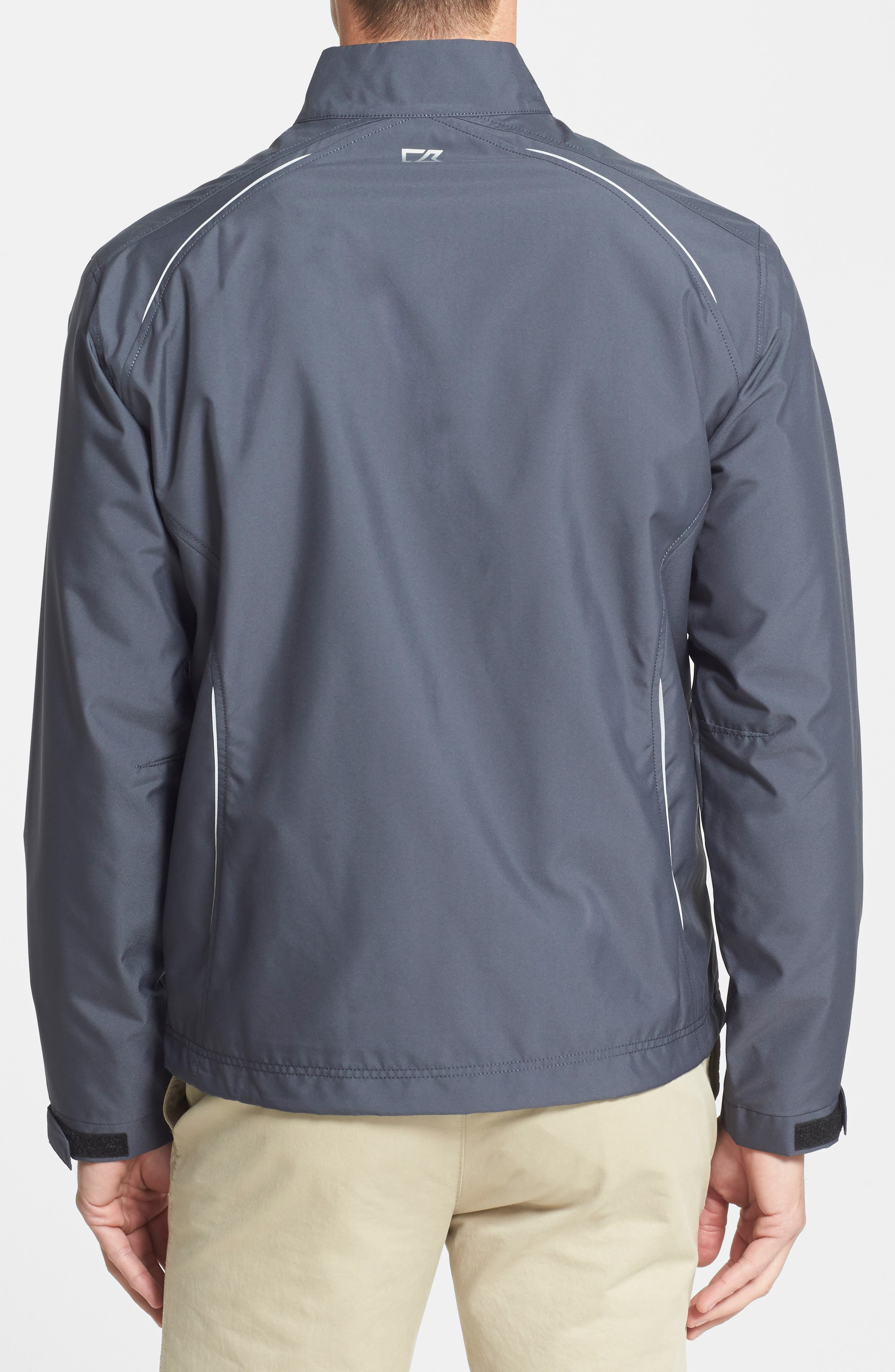 CUTTER & BUCK, Beacon WeatherTec Wind & Water Resistant Jacket, Alternate thumbnail 4, color, ONYX GREY