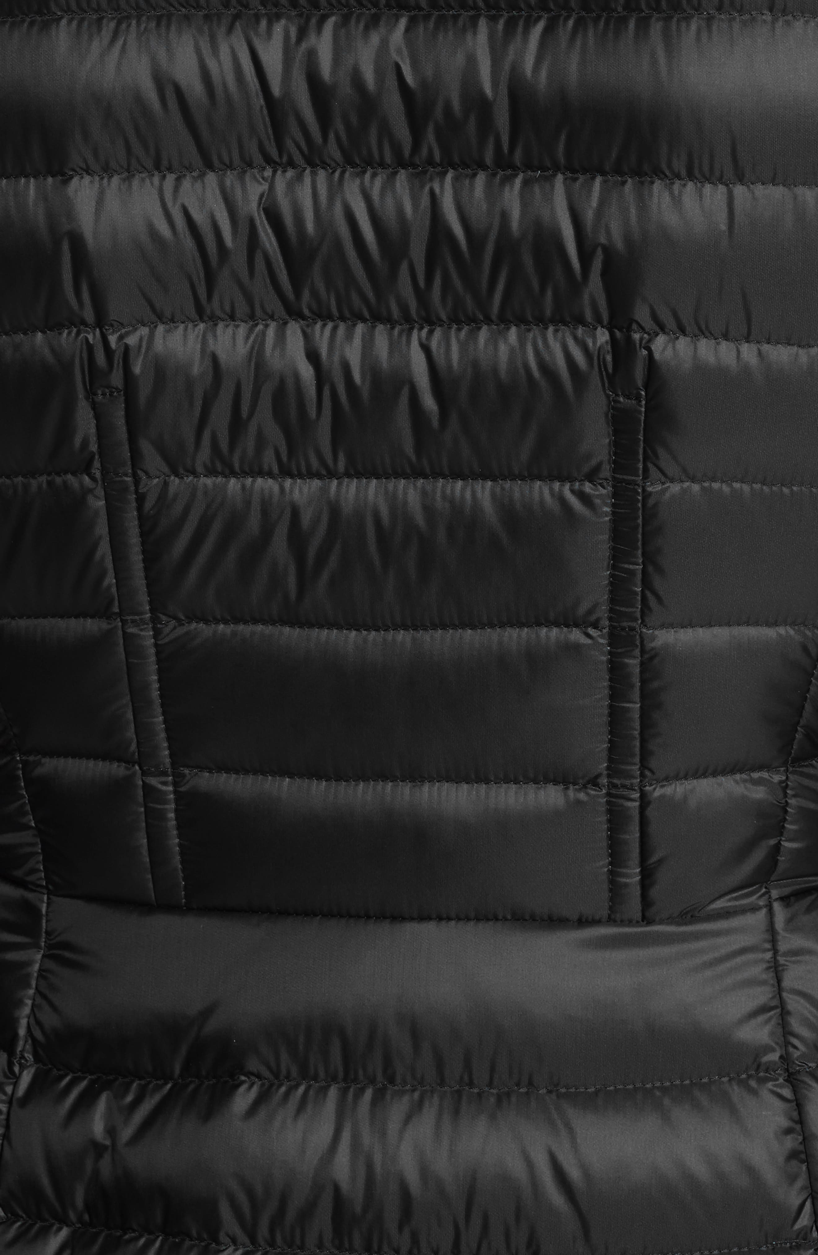 MONCLER, Agatelon Down Quilted Puffer Jacket, Alternate thumbnail 6, color, BLACK