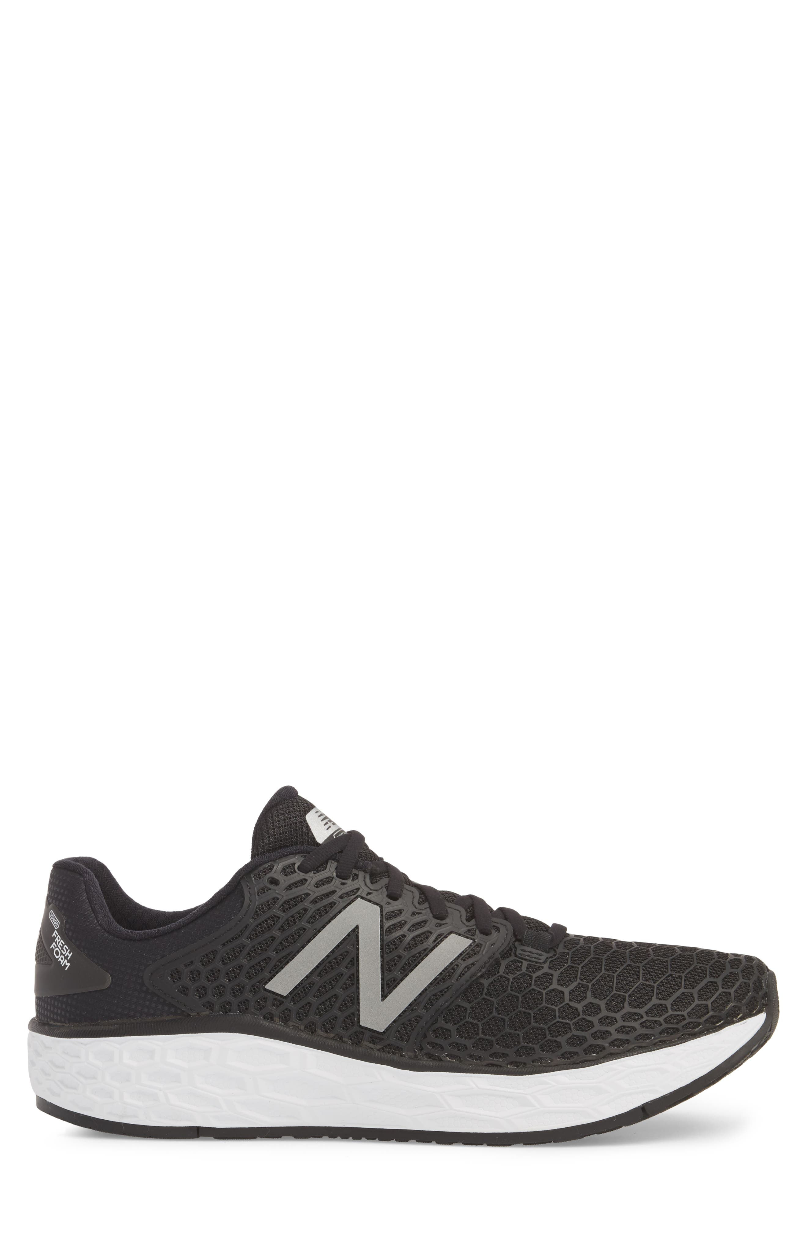 NEW BALANCE, Fresh Foam Vongo v3 Running Shoe, Alternate thumbnail 3, color, BLACK