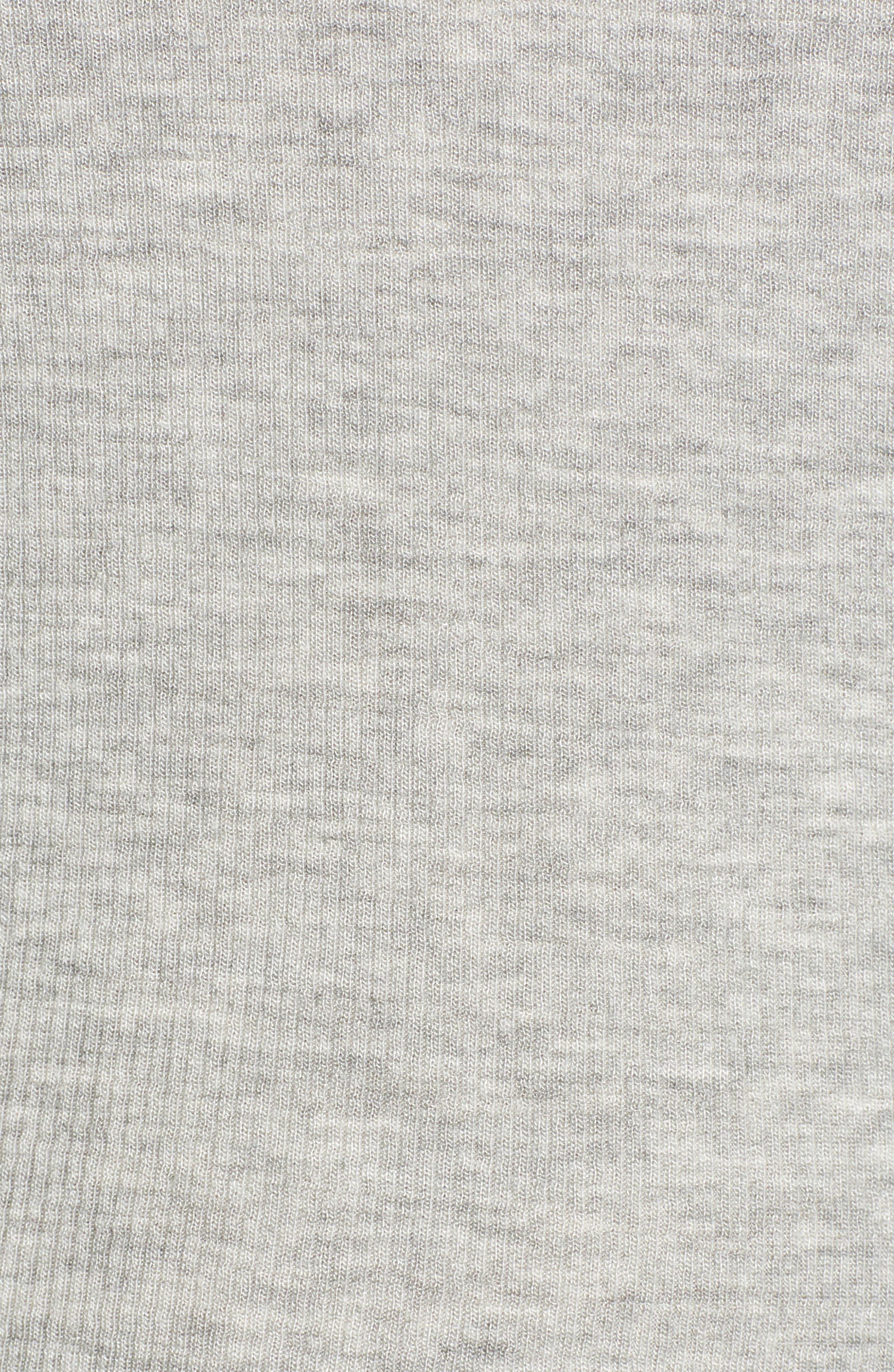 SPLENDID, Ribbed V-Neck Tee, Alternate thumbnail 5, color, HEATHER GREY
