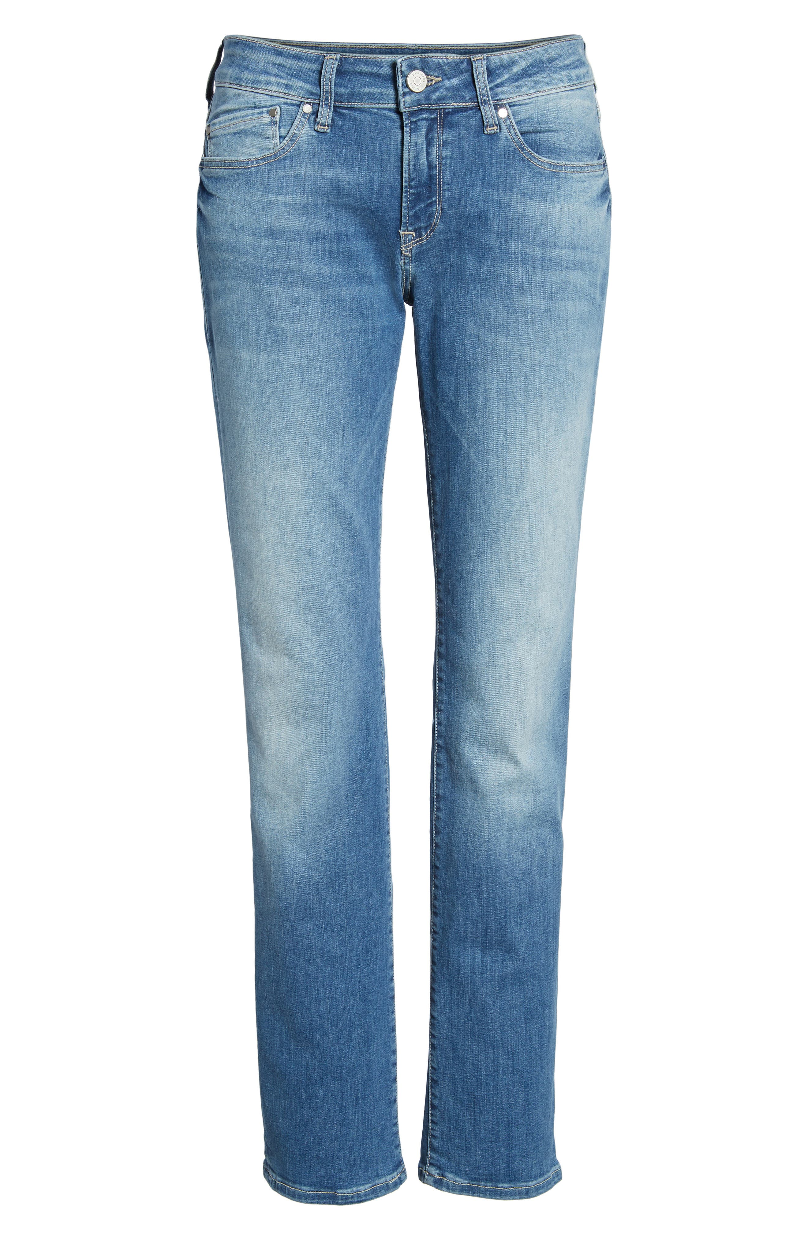 MAVI JEANS, Emma Slim Boyfriend Jeans, Alternate thumbnail 7, color, INDIGO RIPPED NOLITA
