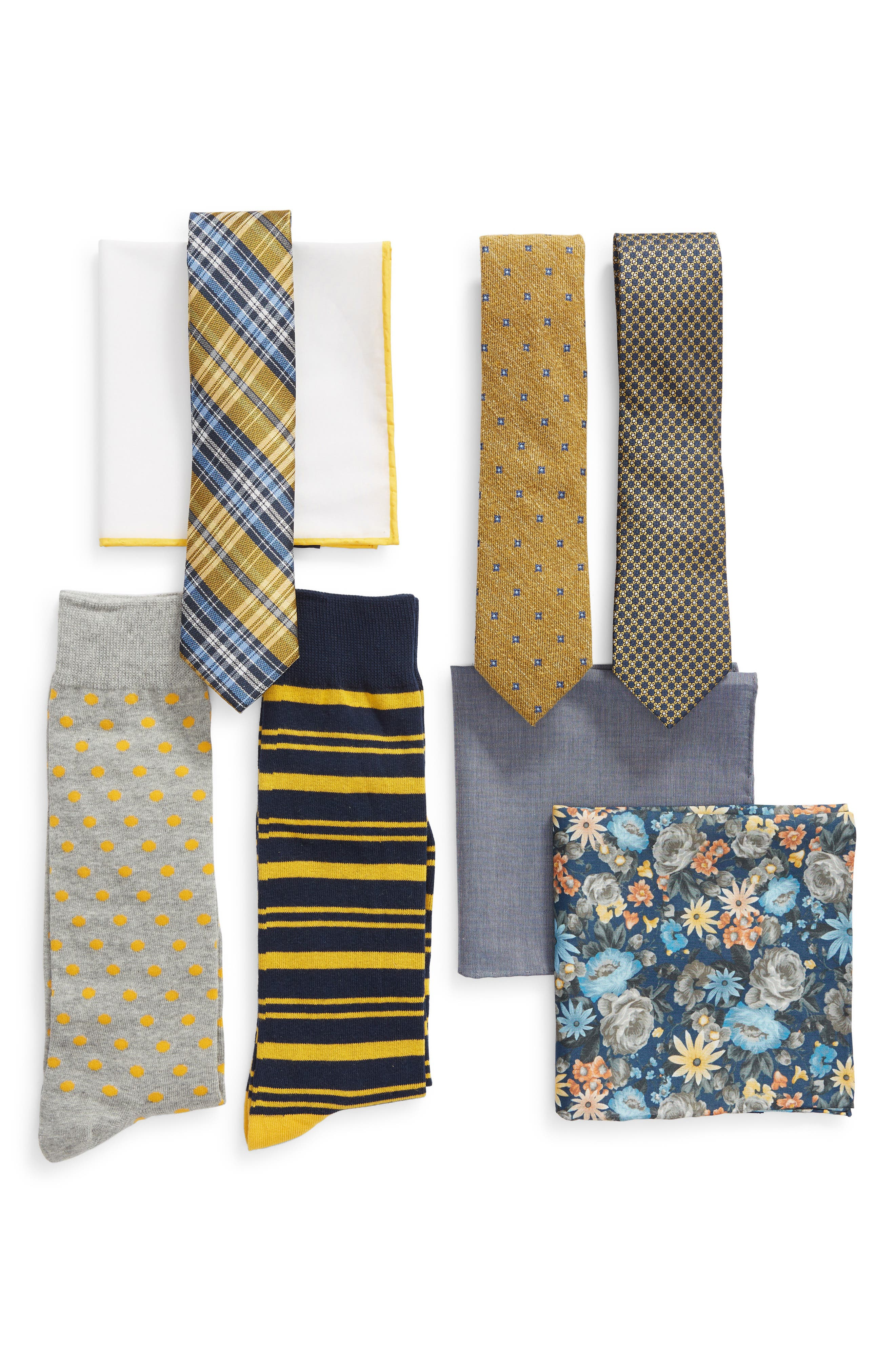 THE TIE BAR Large Yellow Style Box, Main, color, 700
