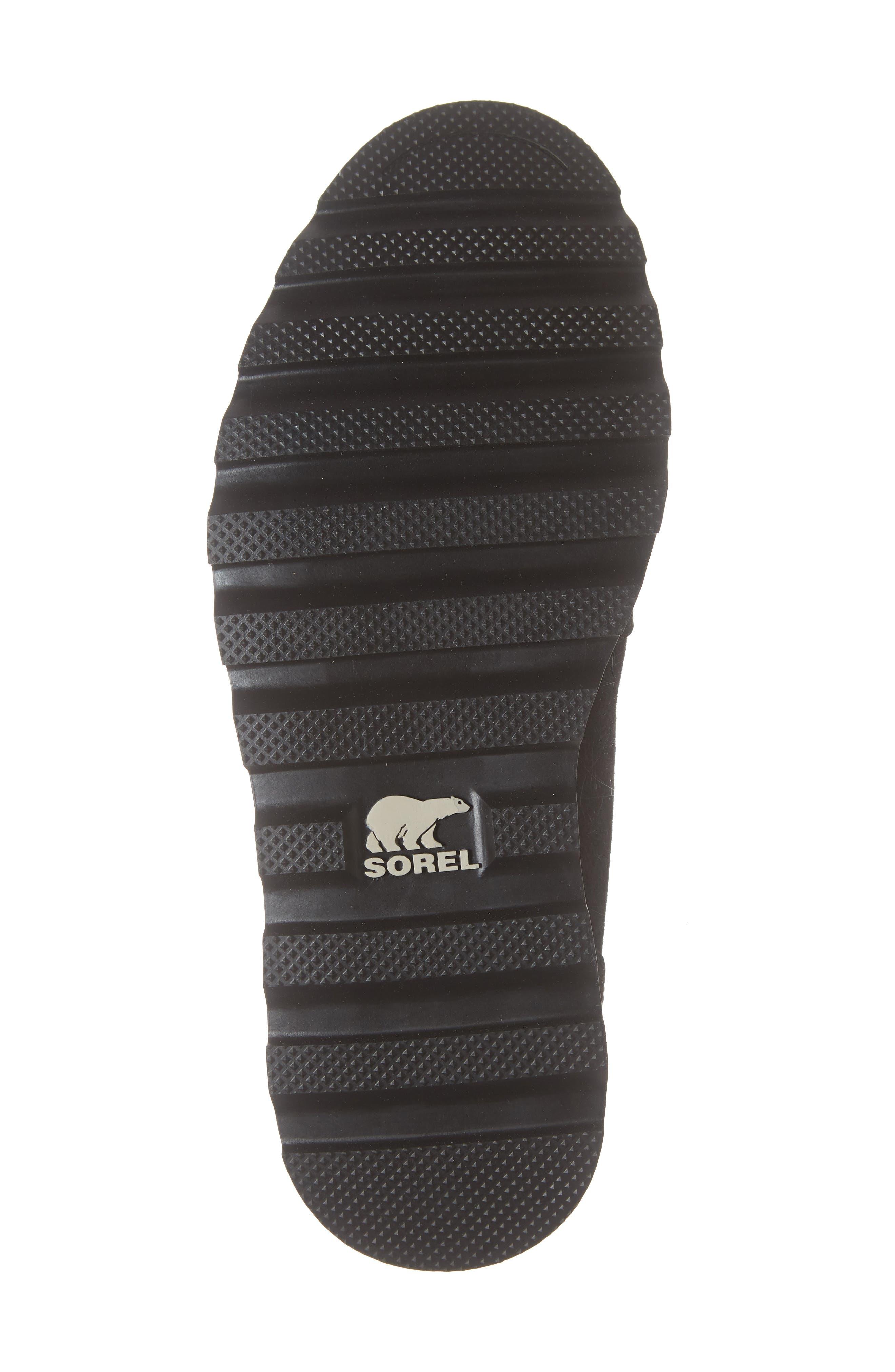 SOREL, Ainsley Conquest Waterproof Boot, Alternate thumbnail 6, color, BLACK/ BLACK