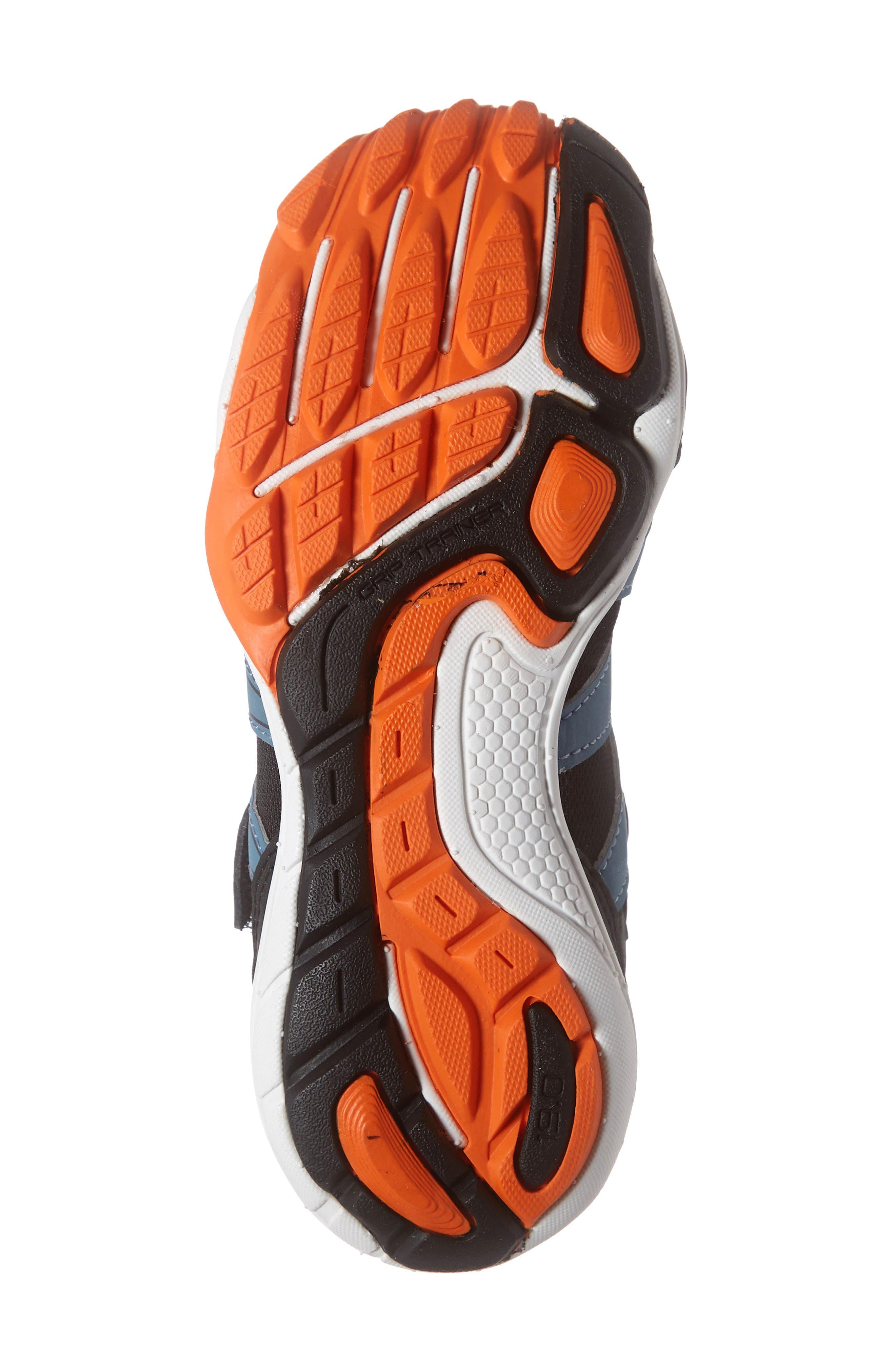 TSUKIHOSHI, Wave Washable Sneaker, Alternate thumbnail 6, color, BLACK/ ORANGE