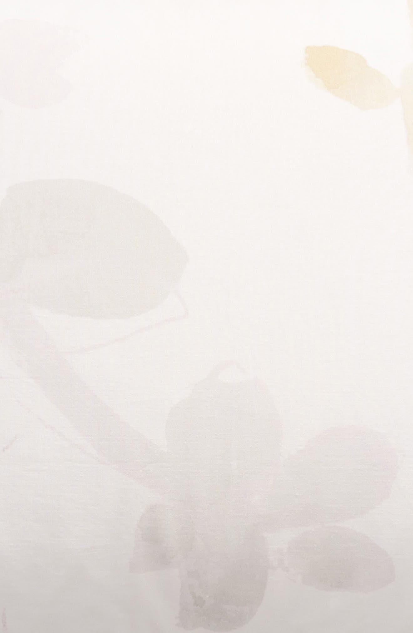 TREASURE & BOND, Veiled Blooms Print Sham, Alternate thumbnail 3, color, GREY OWL MULTI