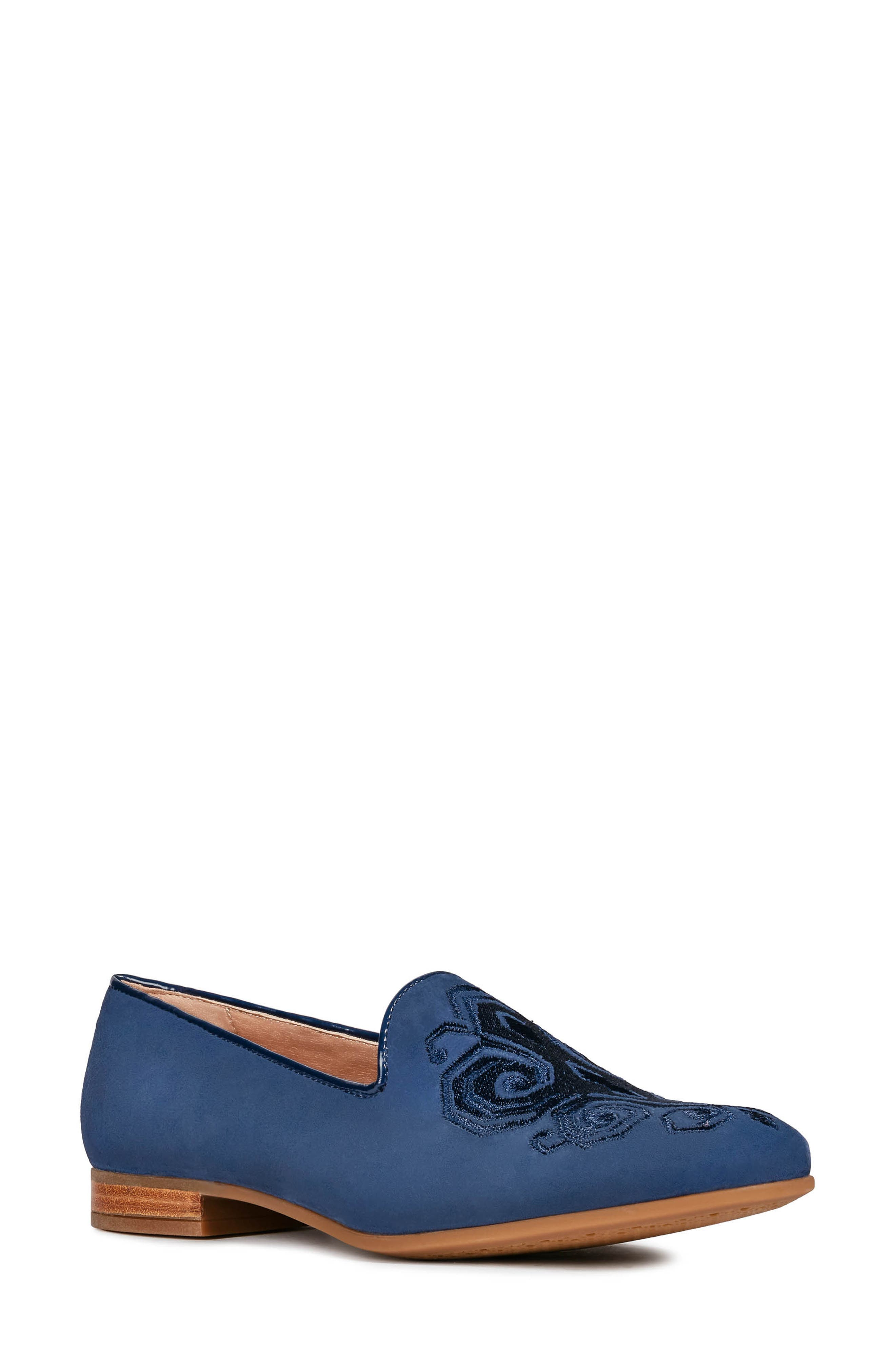 GEOX, Marlyna Loafer, Main thumbnail 1, color, BLUE SUEDE