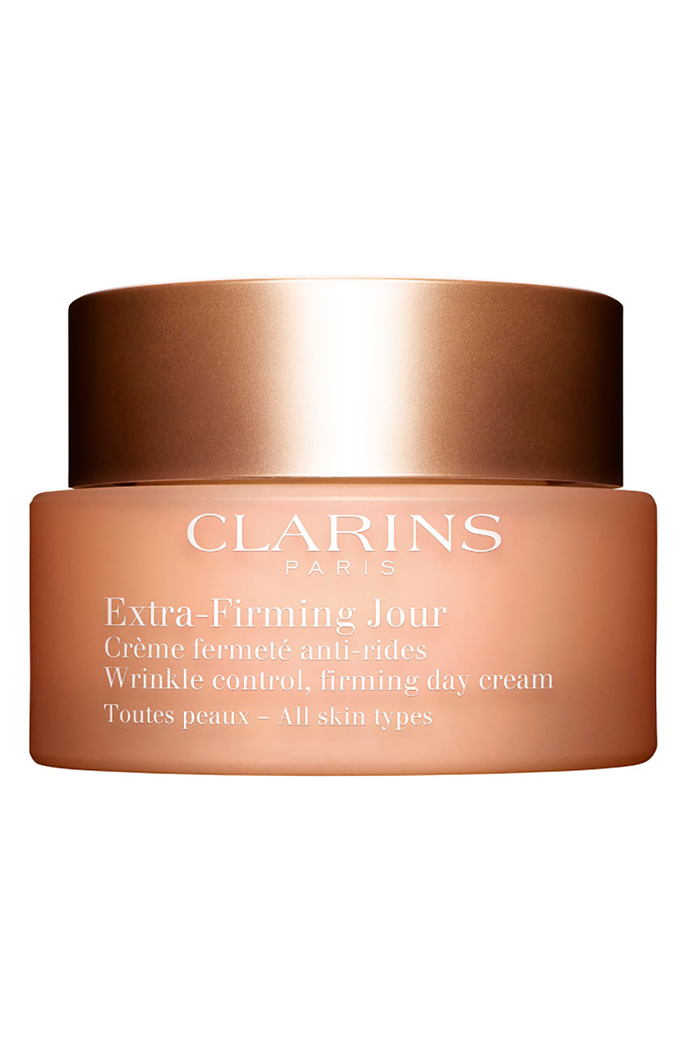 CLARINS, Extra-Firming Wrinkle Control Firming Day Cream for All Skin Types, Main thumbnail 1, color, NO COLOR