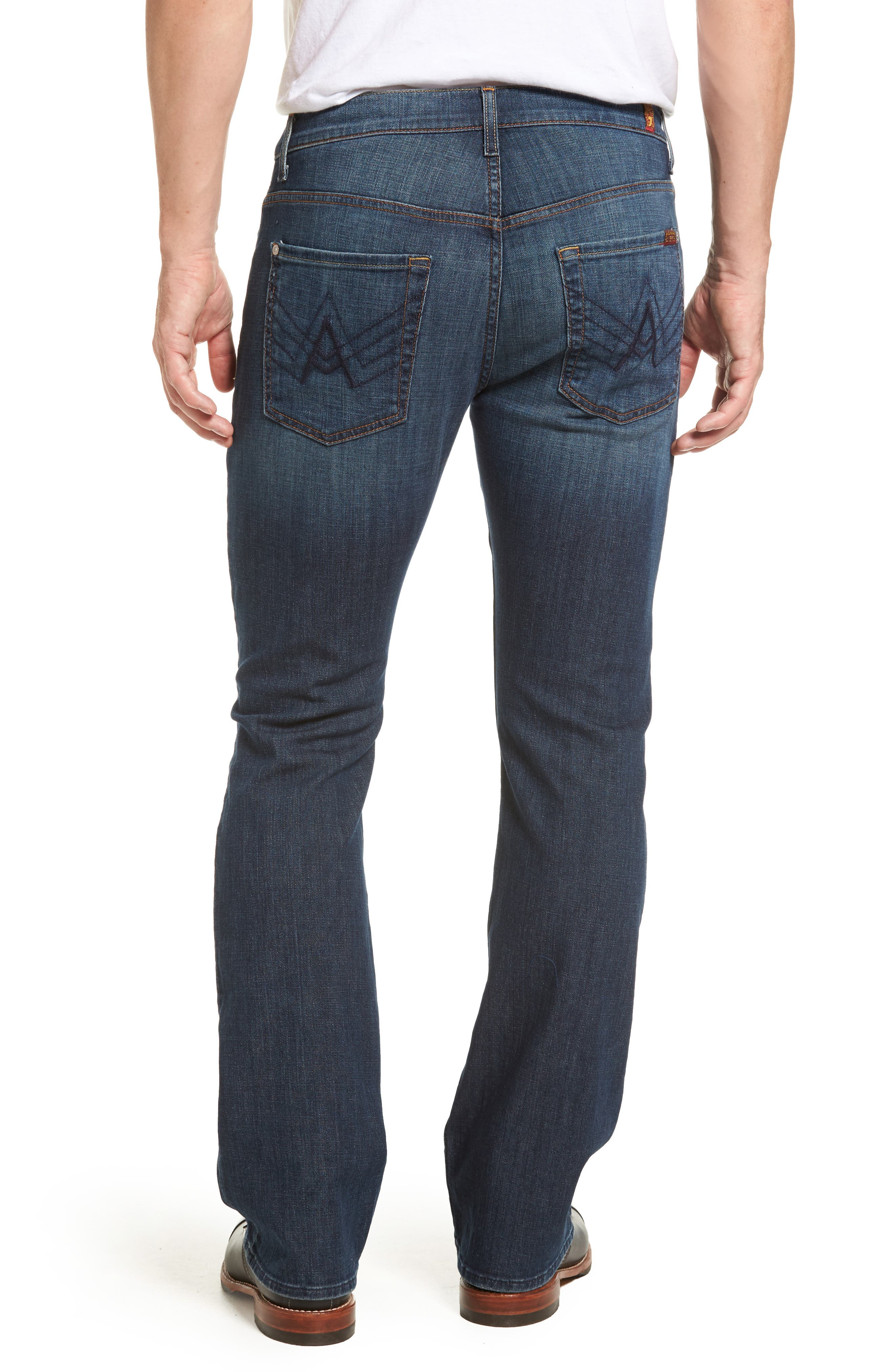 7 FOR ALL MANKIND<SUP>®</SUP>, Brett Bootcut Jeans, Alternate thumbnail 2, color, DARK NEW YORK