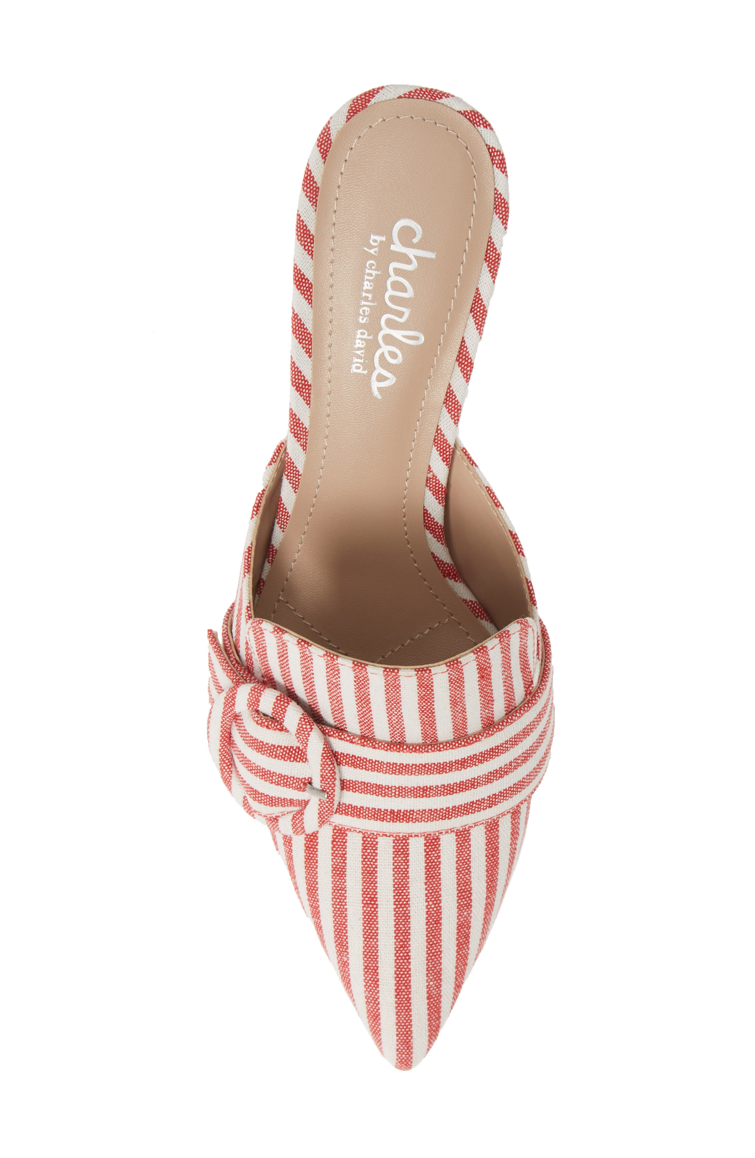 CHARLES BY CHARLES DAVID, Acapulco Mule, Alternate thumbnail 5, color, CANDY RED FABRIC