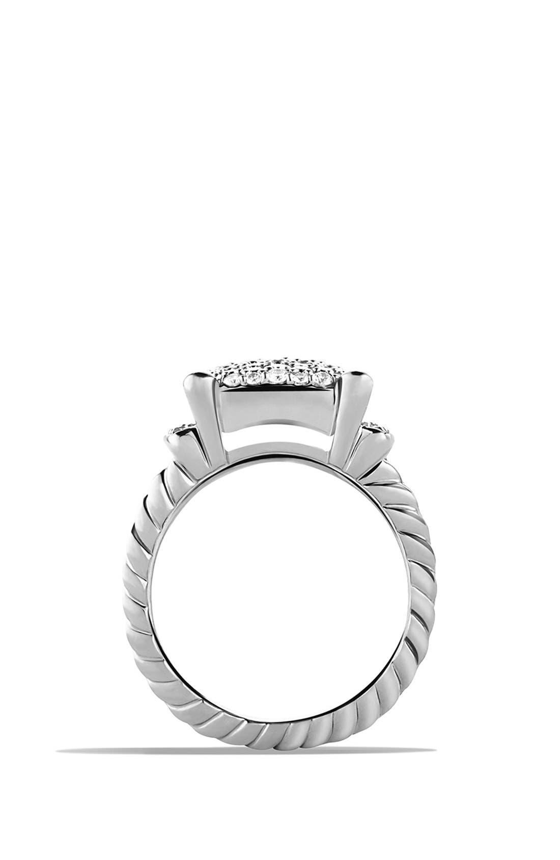DAVID YURMAN, 'Wheaton' Ring with Diamonds, Alternate thumbnail 3, color, DIAMOND