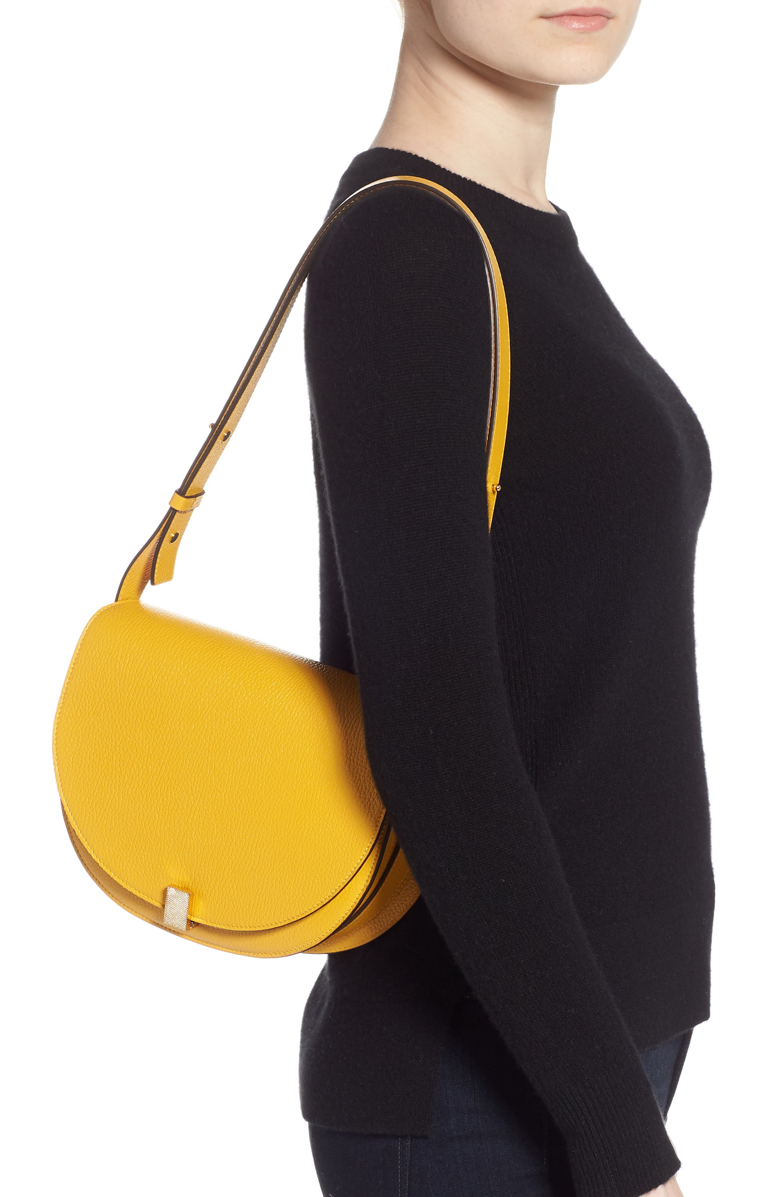 VICTORIA BECKHAM, Half Moon Box Shoulder Bag, Alternate thumbnail 2, color, YELLOW