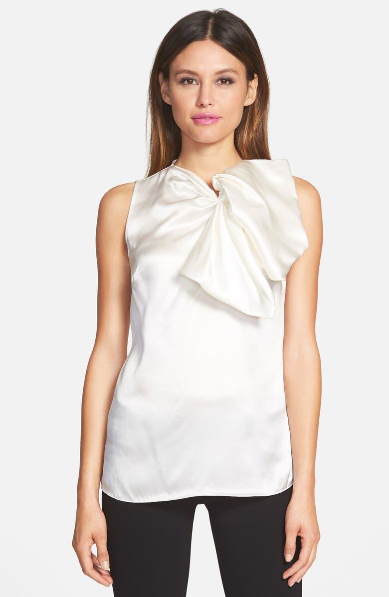 019ab4fefb9270 Pink Tartan Silk Bow Blouse